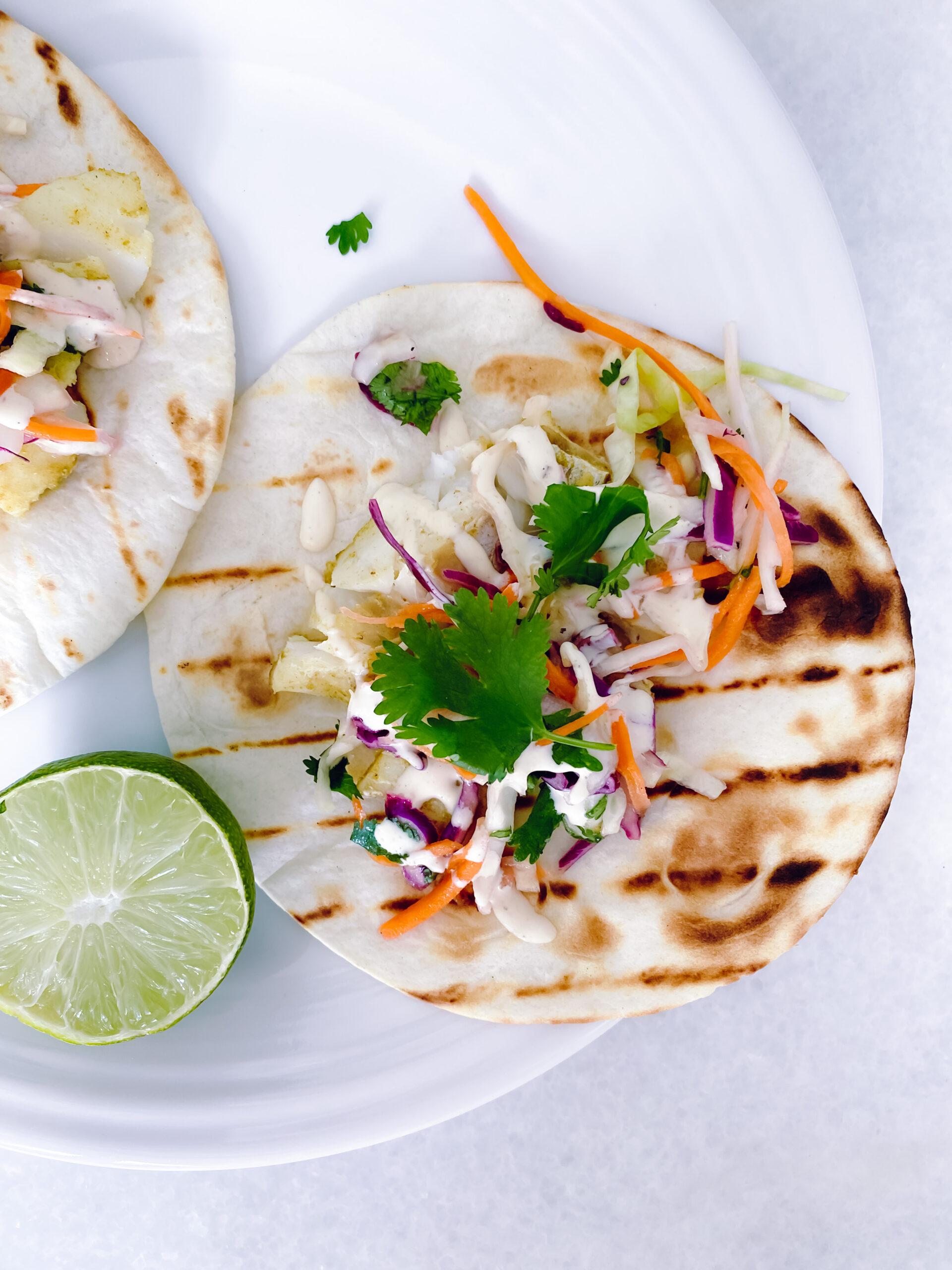 easy fish taco recipe, summer dinners