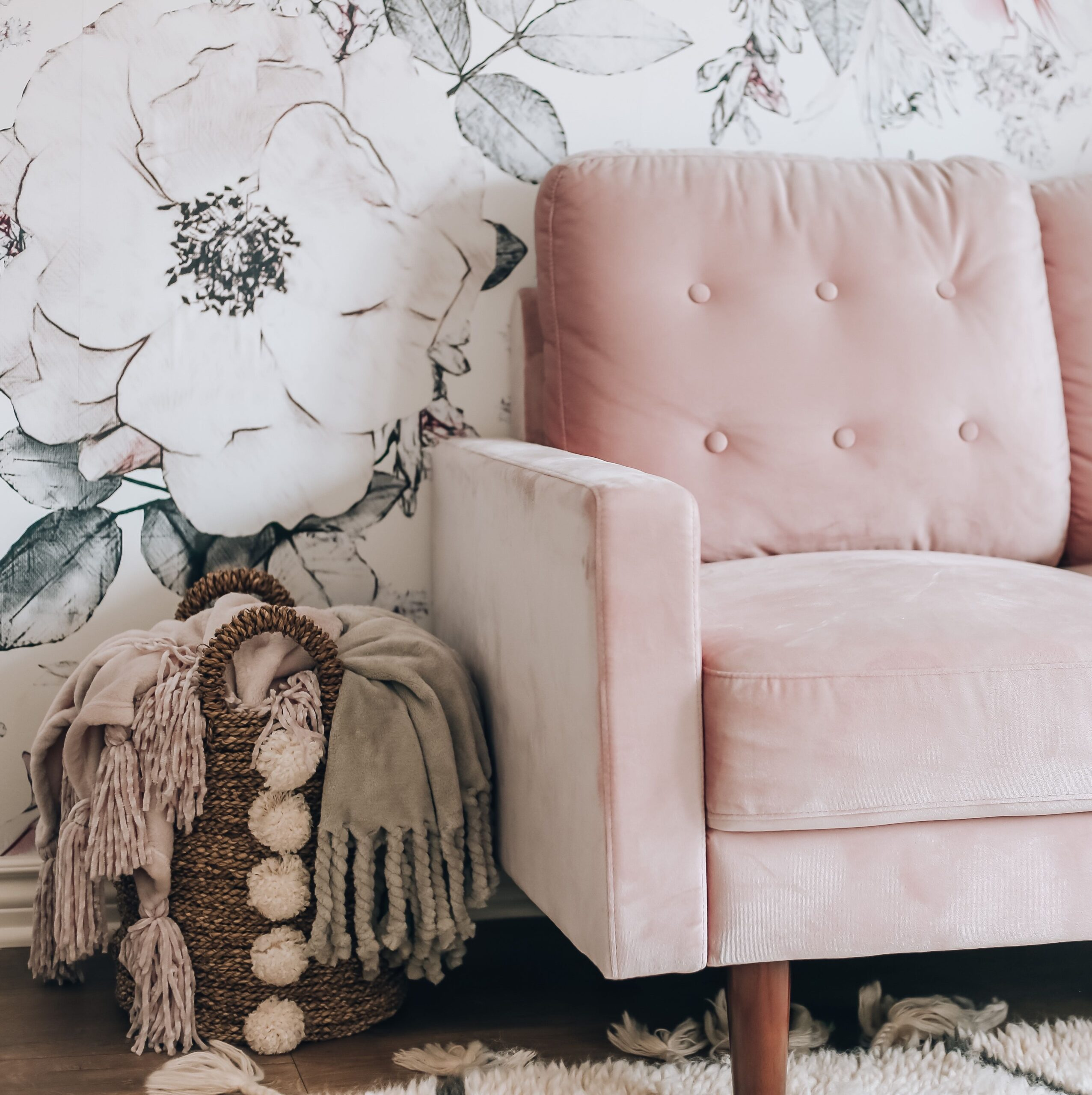 New York style blogger, Blushing Rose Style shares a look at her home office. Revealing all the decor pieces that make this home office perfect!