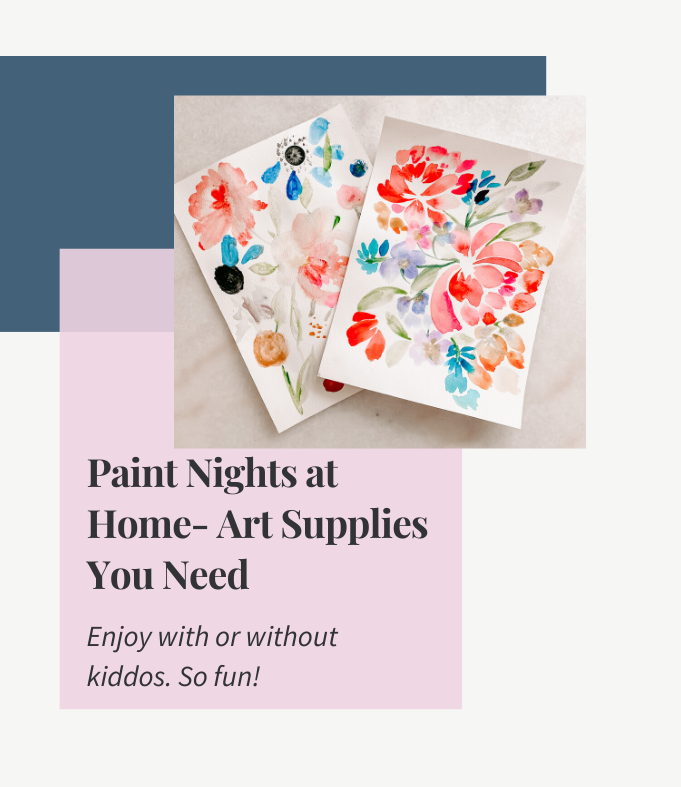 Paint Night with the Kids - Art Supplies