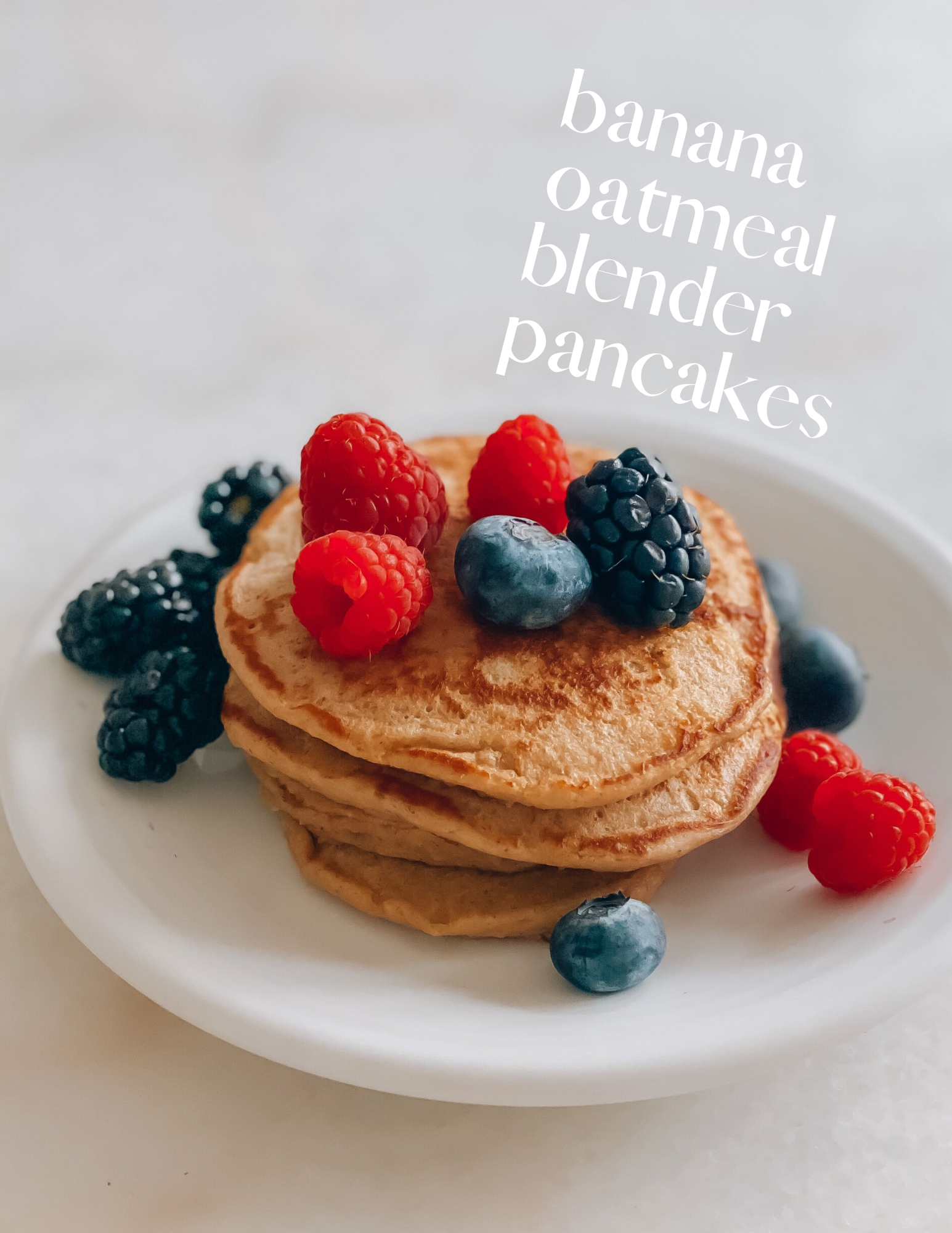 Quick and Delicious Oatmeal Banana Blender Pancakes