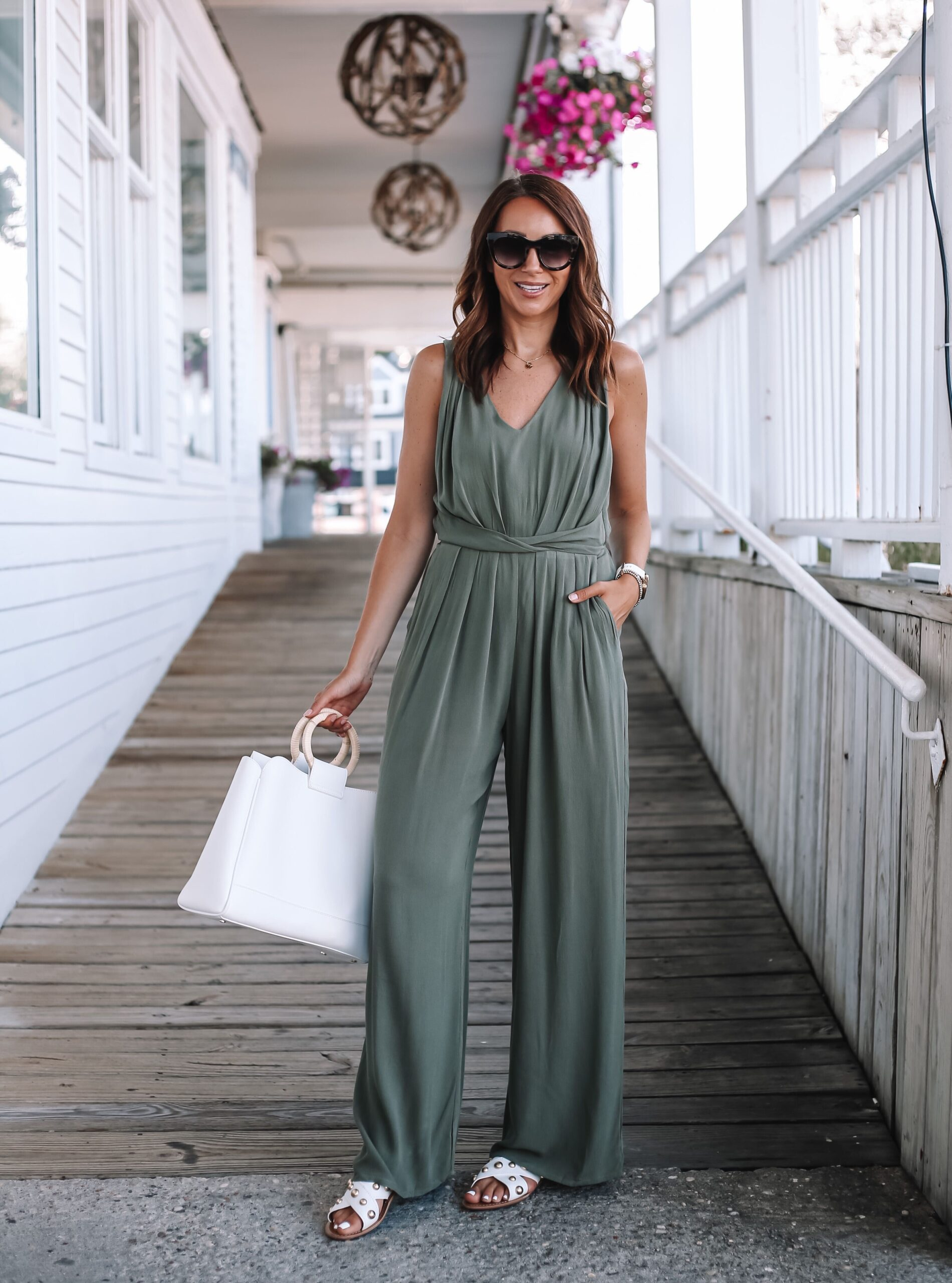 How To Style Green Jumpsuit