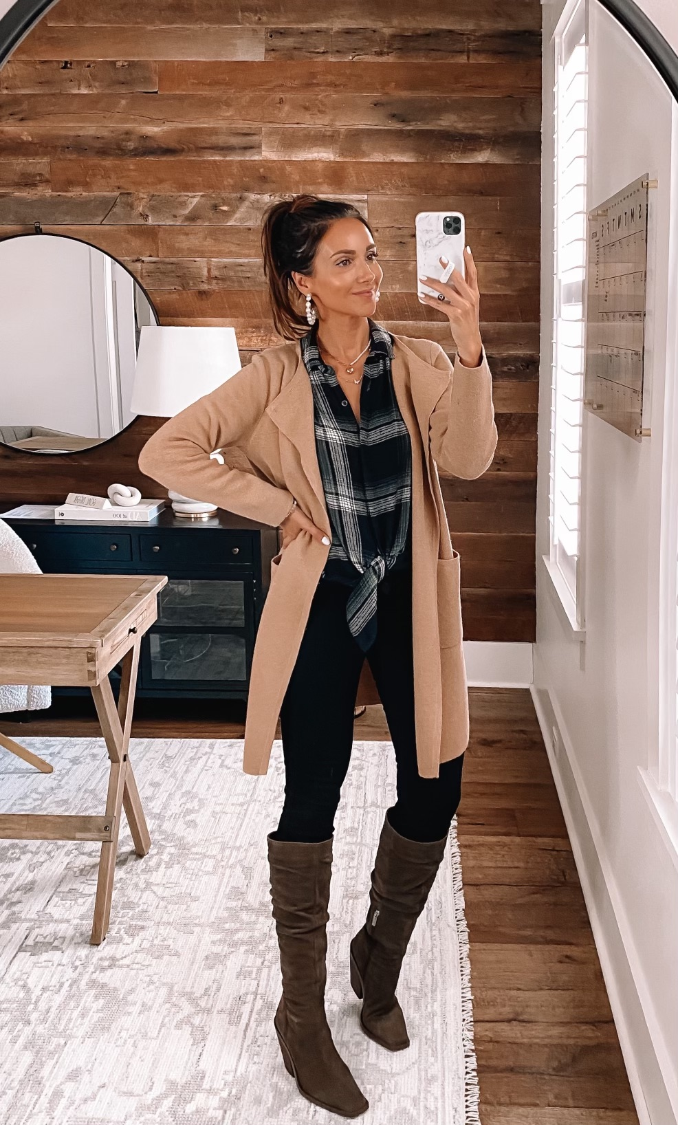 jcrew juliette sweater blazer fall outfit