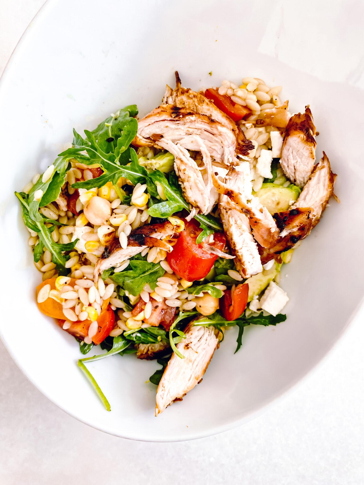 summer pasta salad, light pasta salad, orzo pasta salad