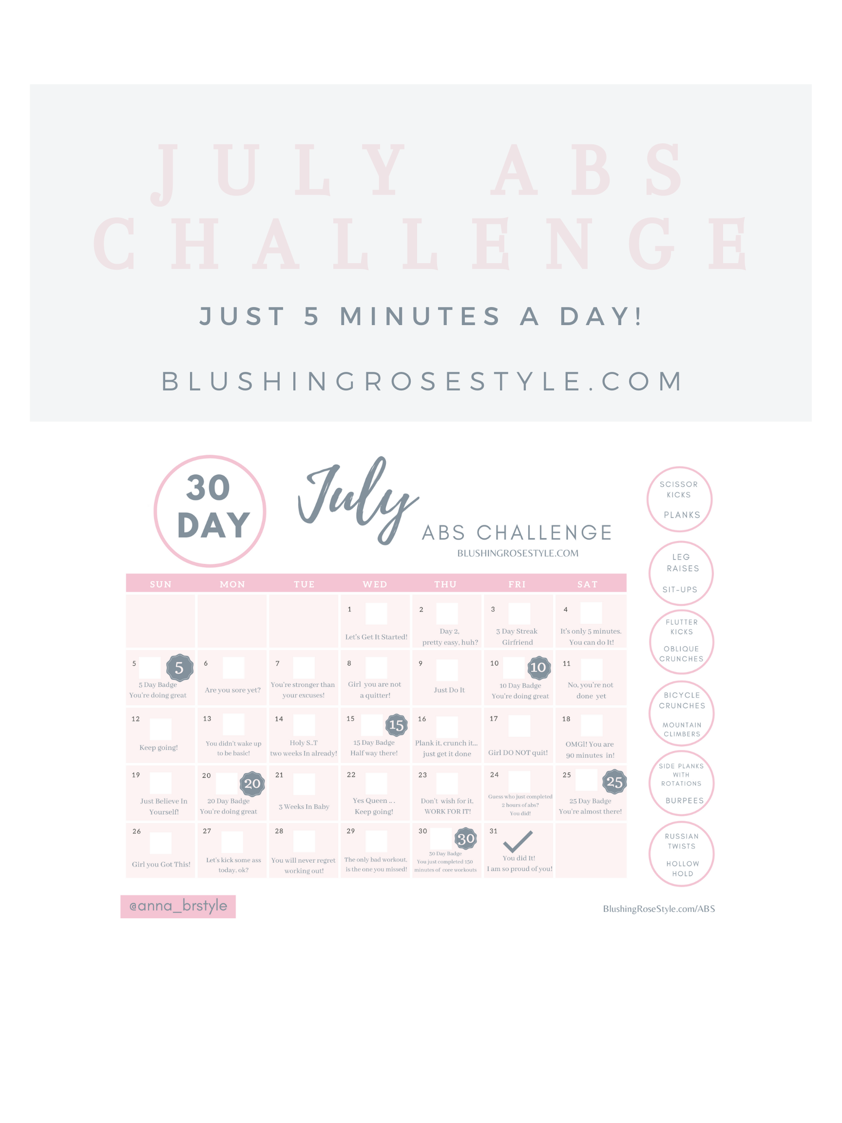 July Abs Challenge