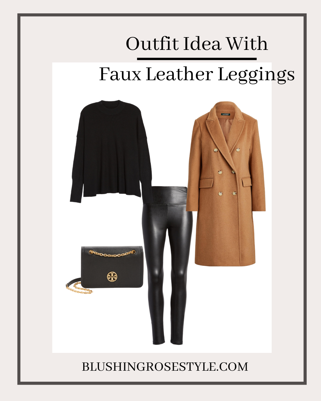 outfit idea with faux leather leggings