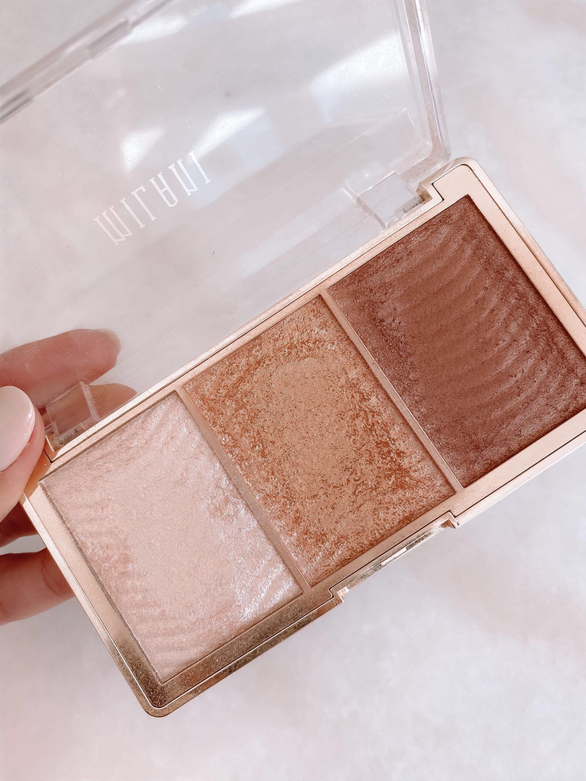 drugstore beauty, milani highlighter palette