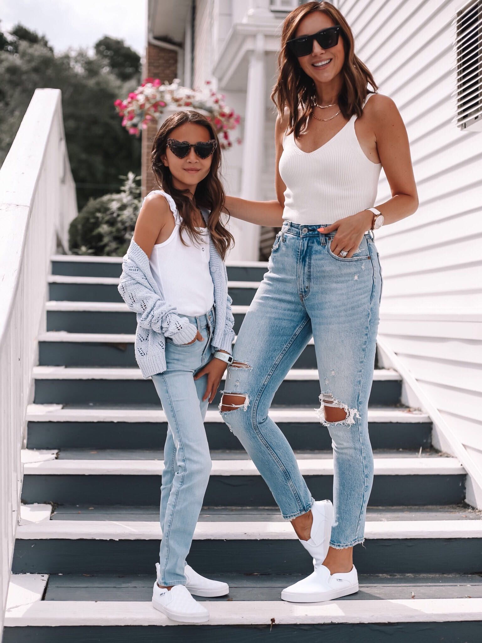 Abercrombie Jeans Mom and Daughter