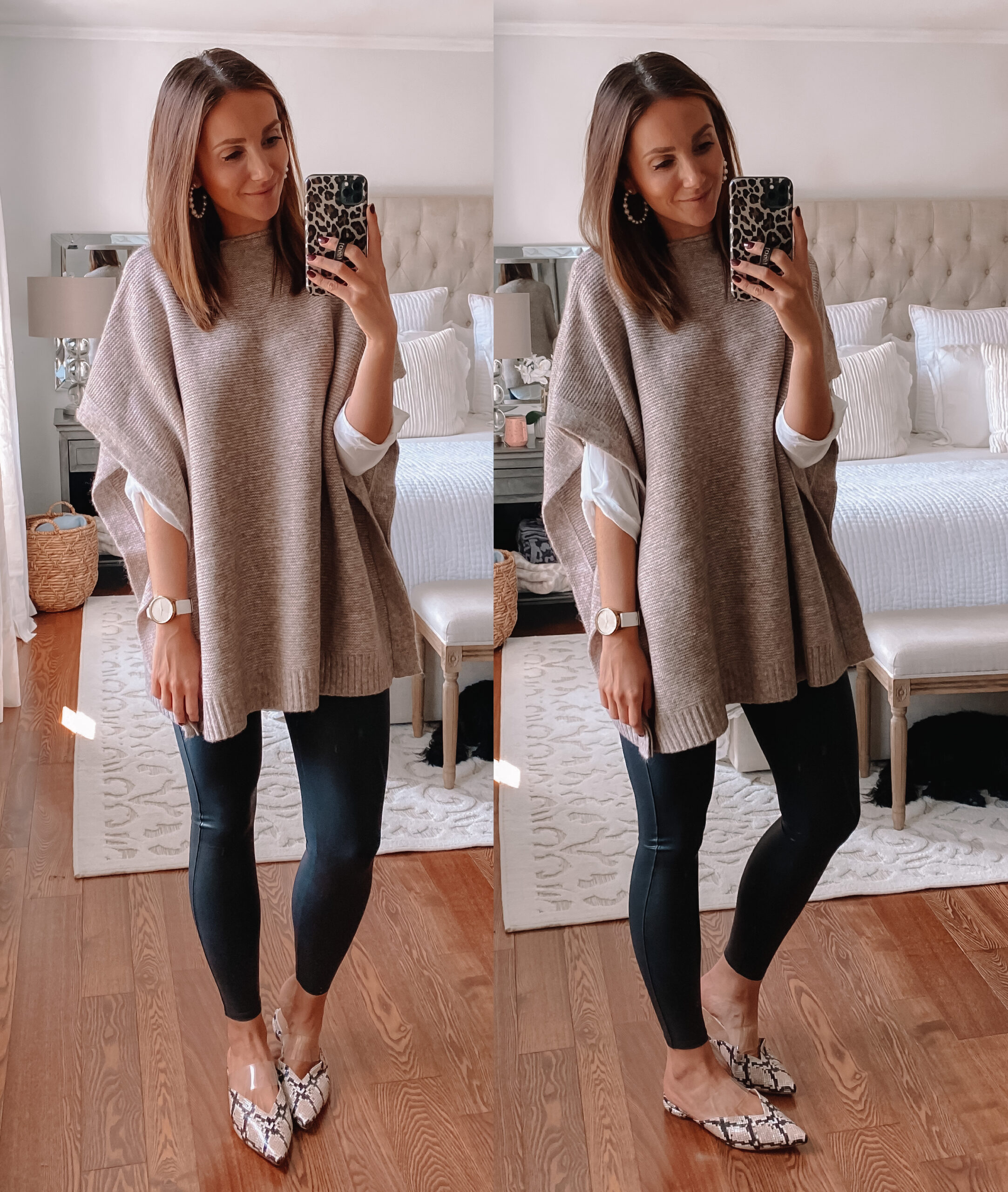 target sweater poncho styled for workwear