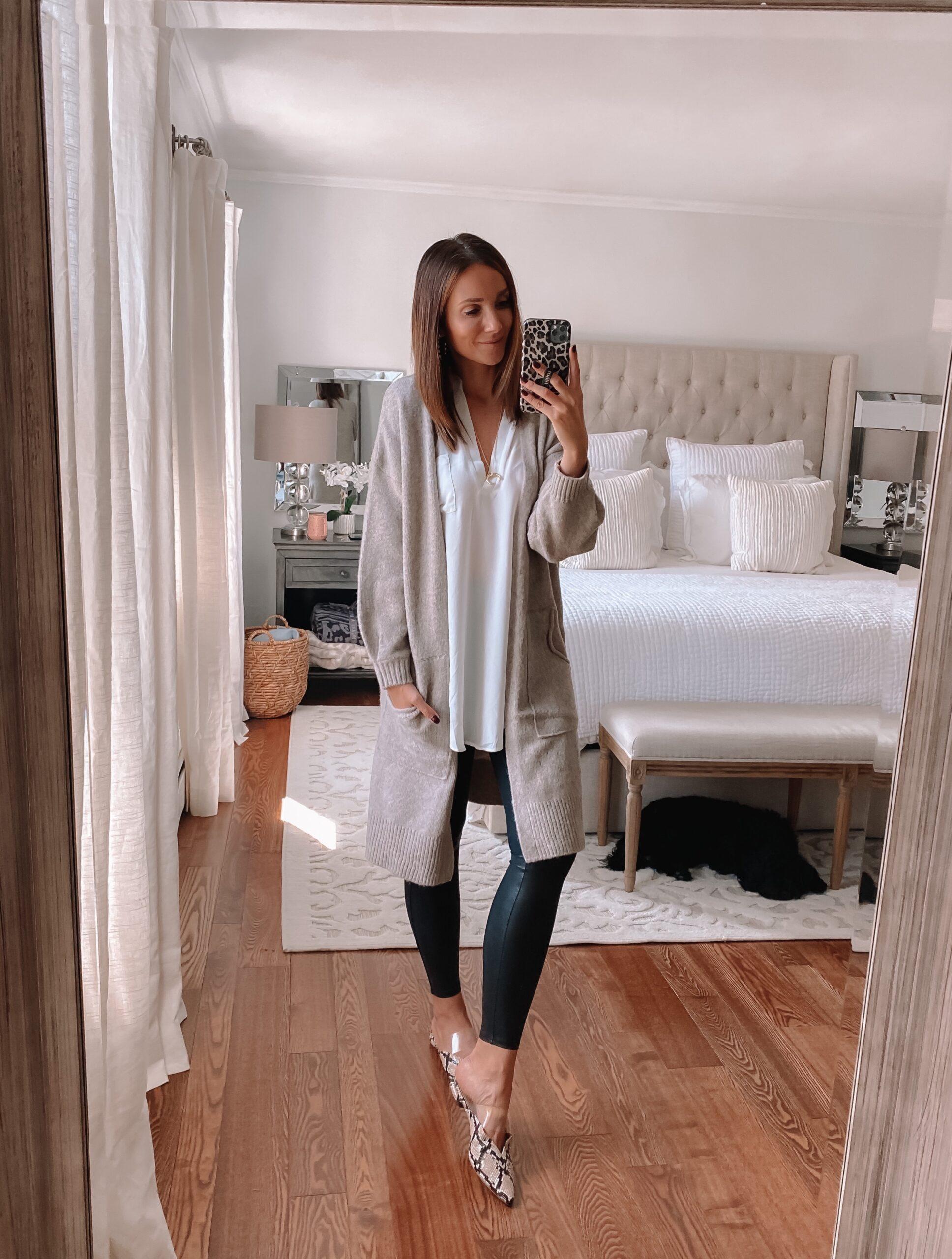 workwear, teacher outfit idea with leggings