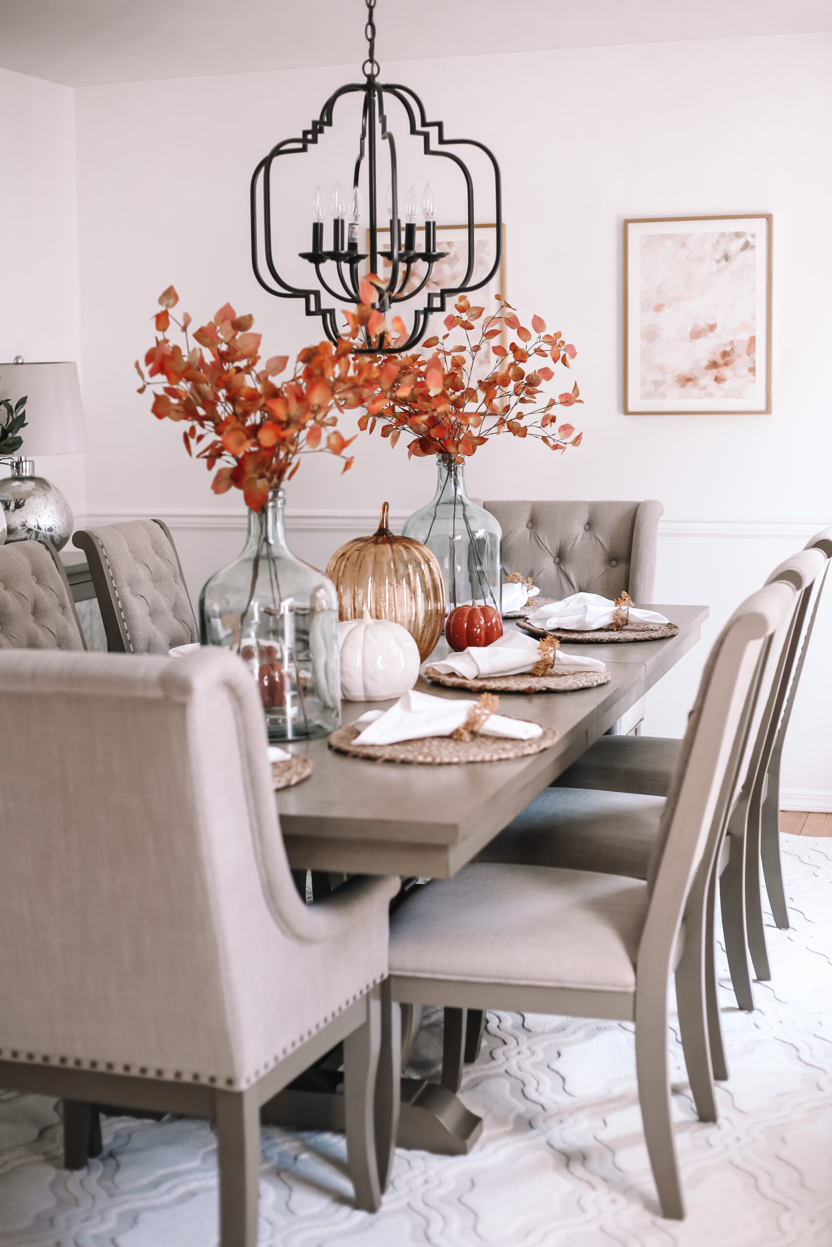 Fall Dining Room Makeover with Raymour and Flanigan
