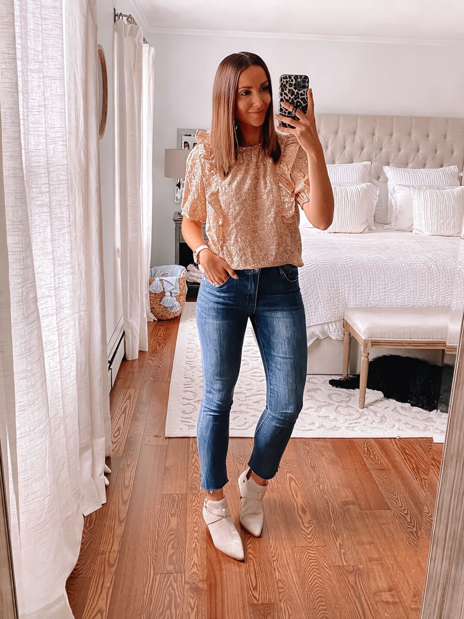 casual outfit with ab-solution jeans