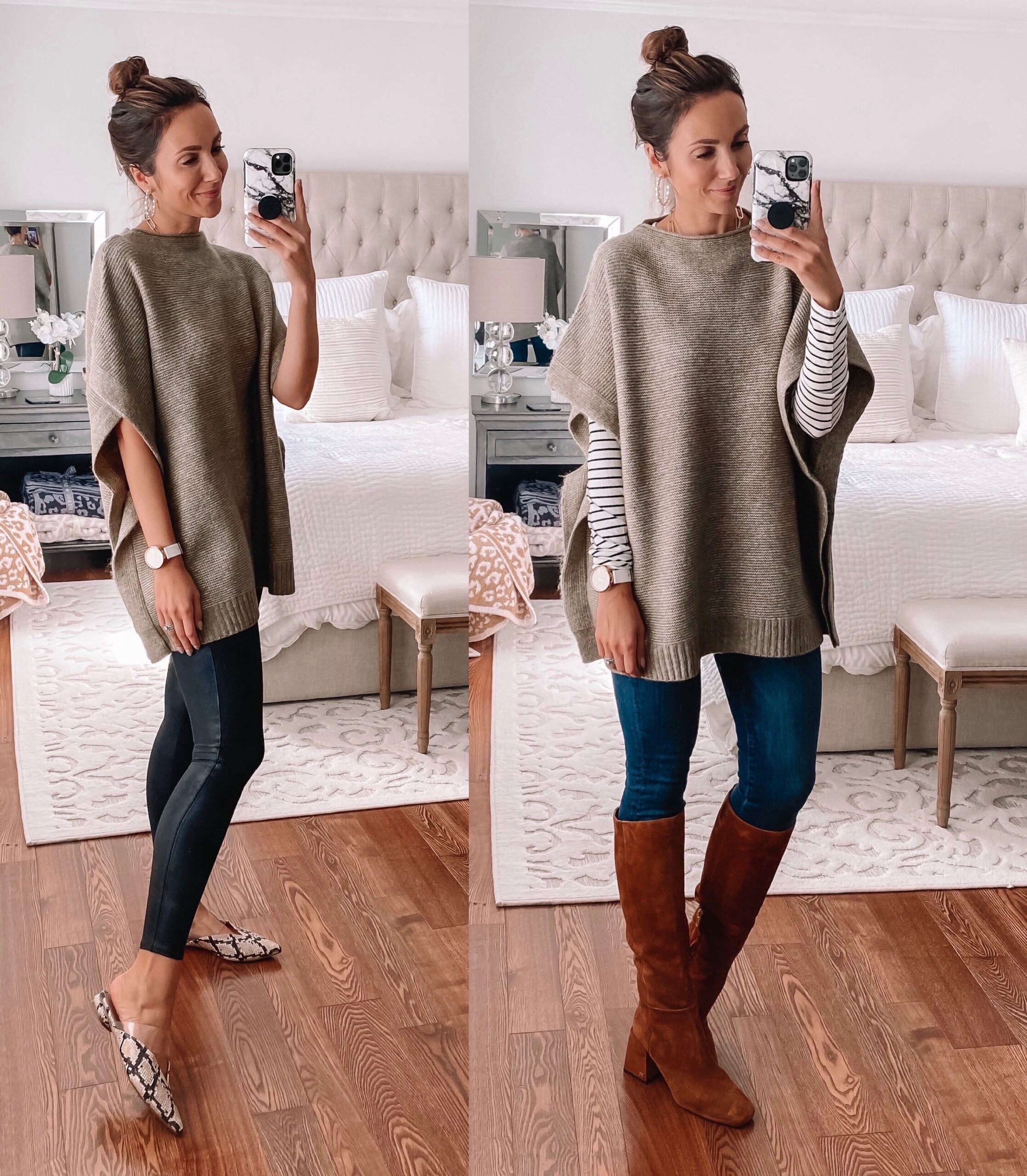 target finds, sweater poncho, fall outfit idea