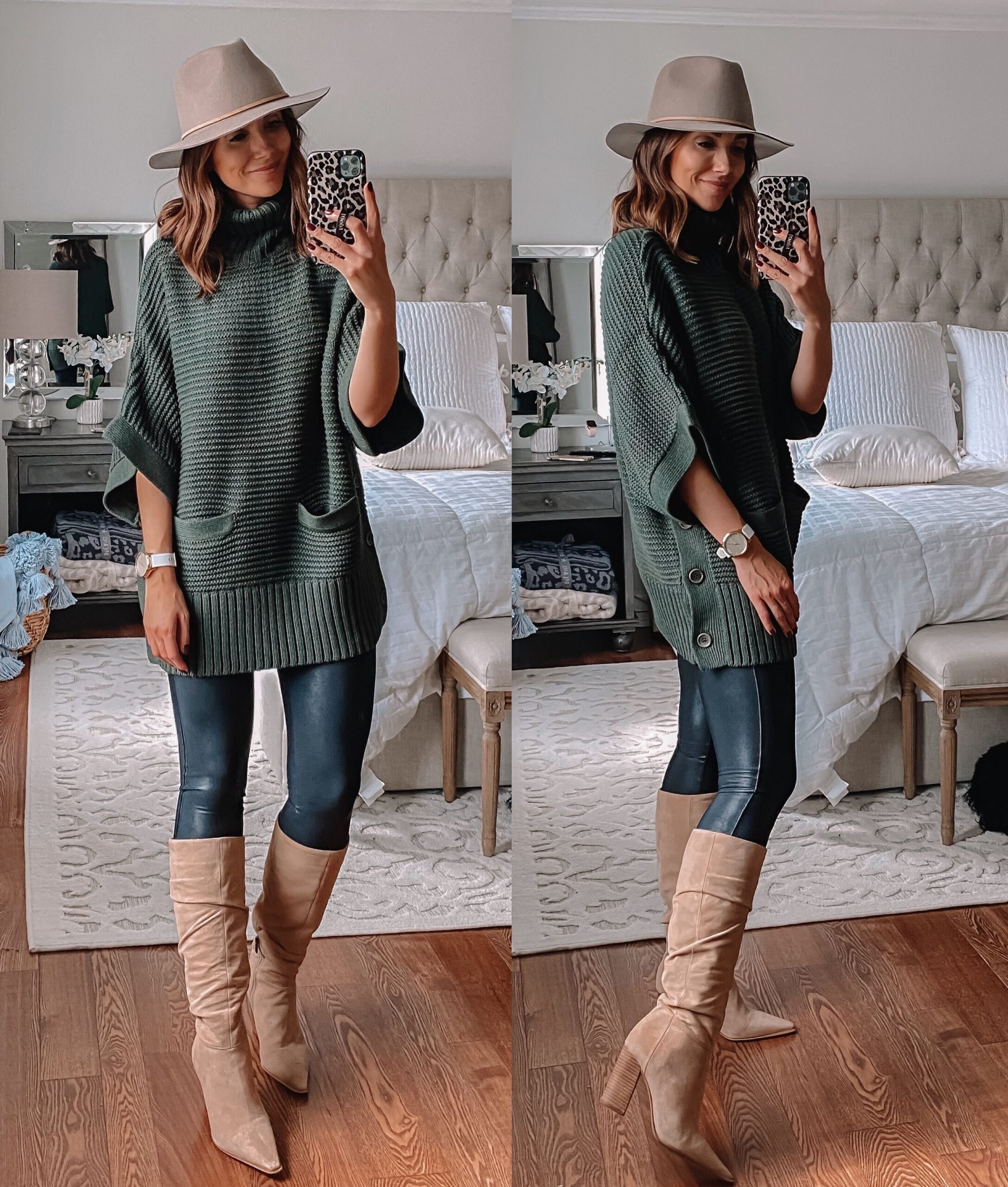 Jcrew Sweater Poncho, Fall outfit idea with sweater poncho