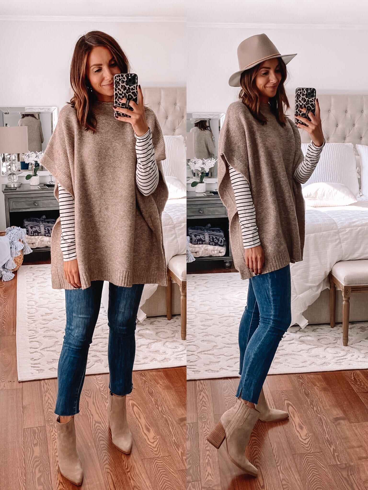 Target sweater poncho, affordable fall outfits