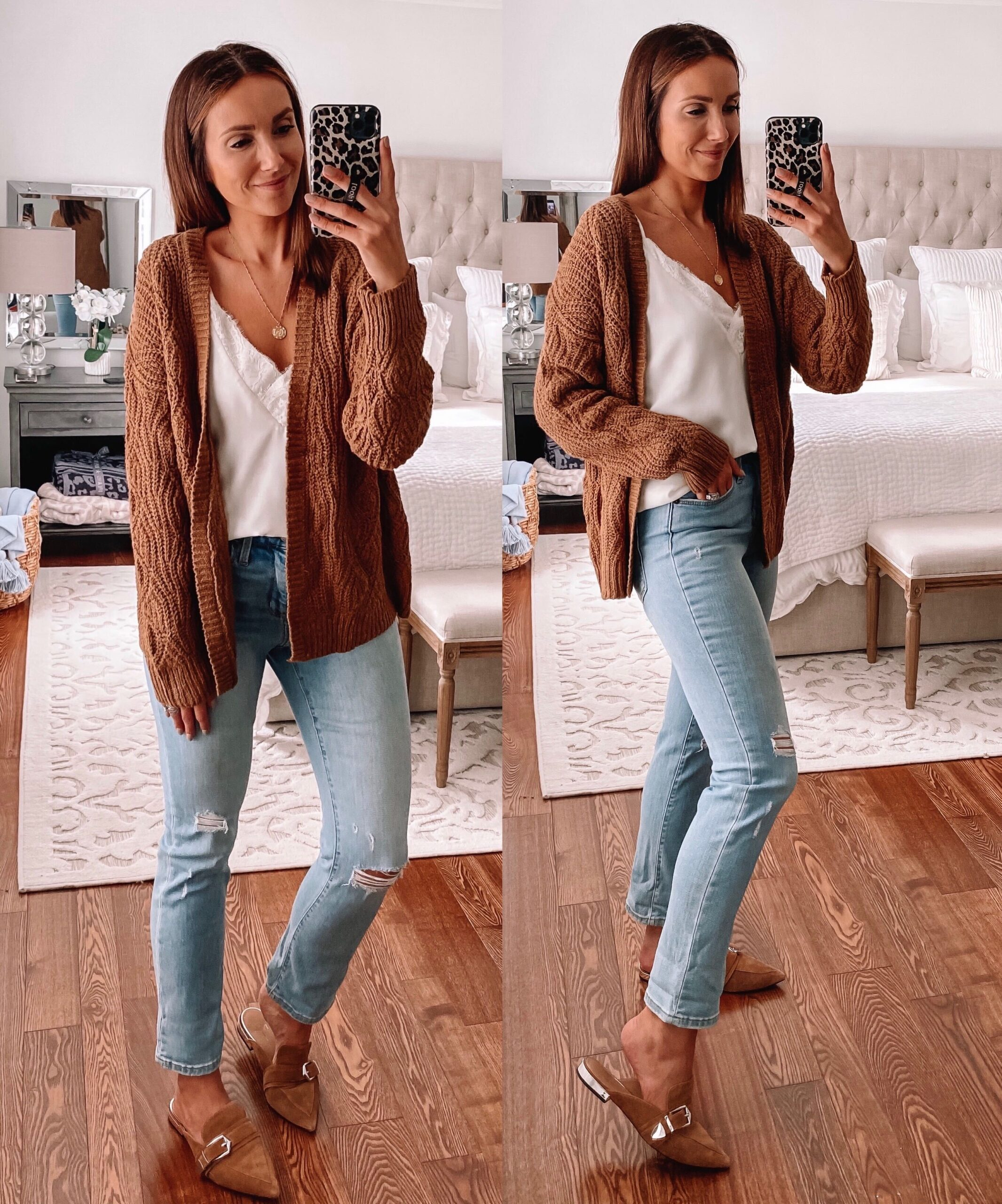 target style, brown cardigan, fall outfit