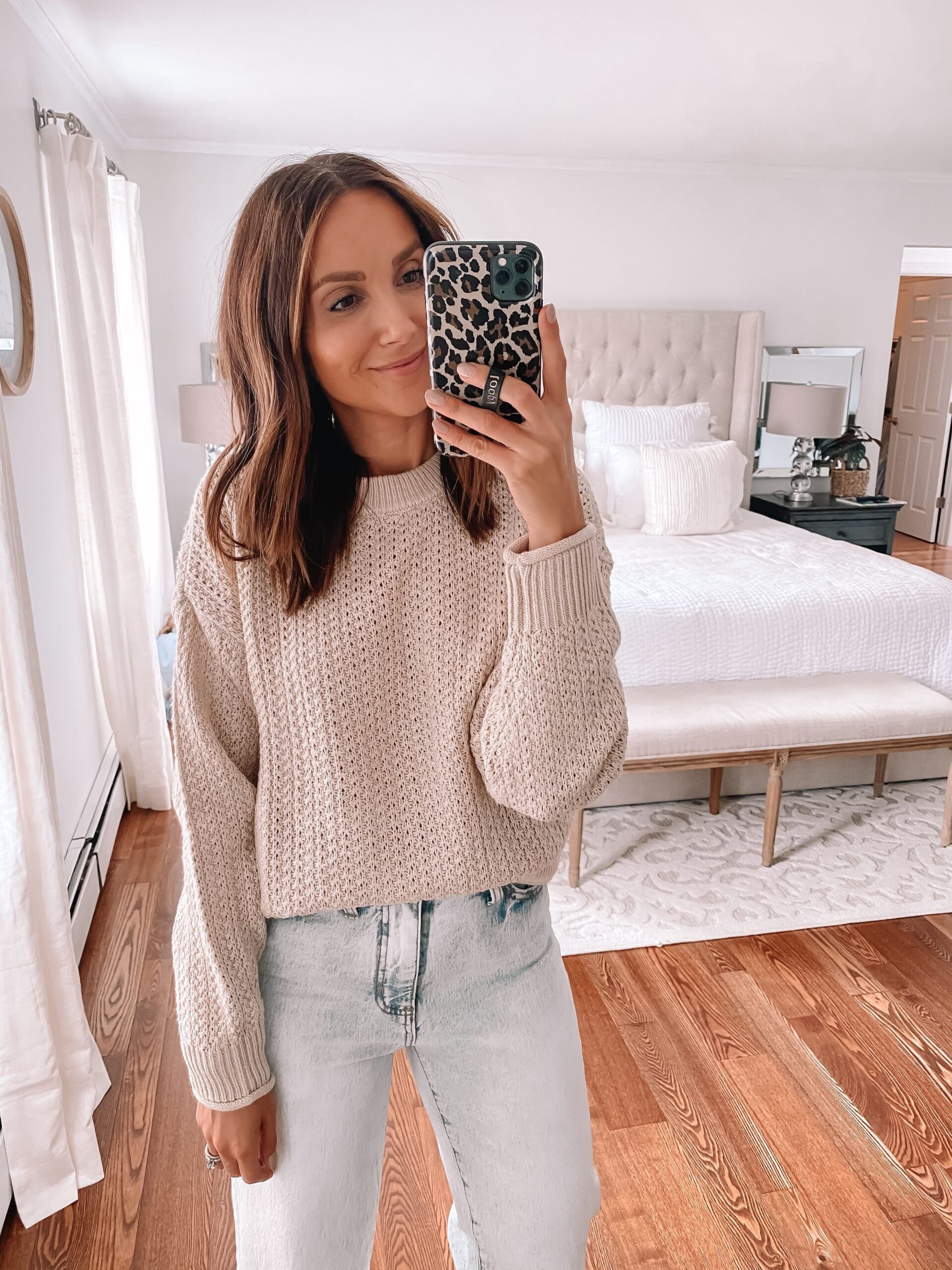 target neutral sweater, fall outfit idea