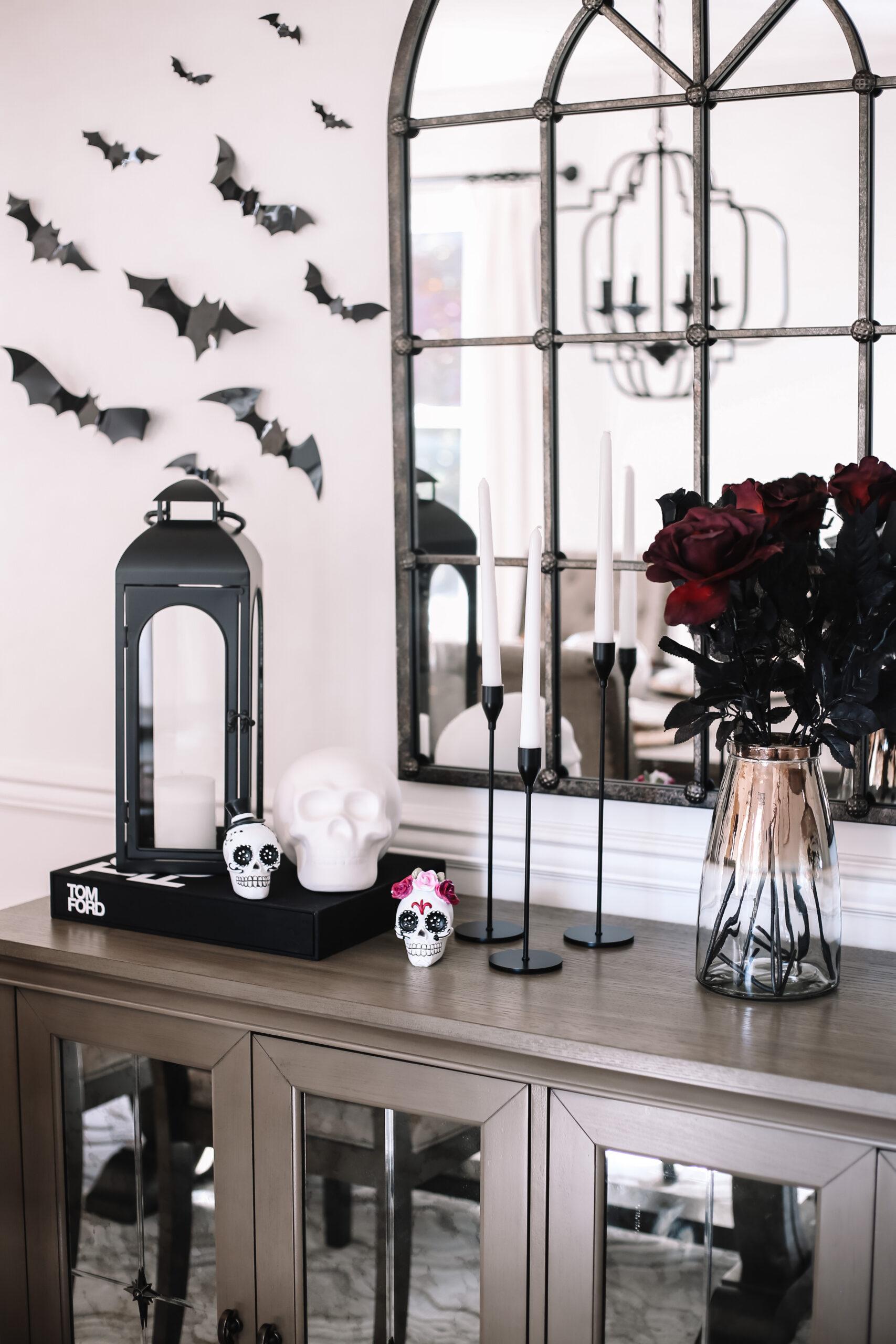 halloween home decor, dining room decor