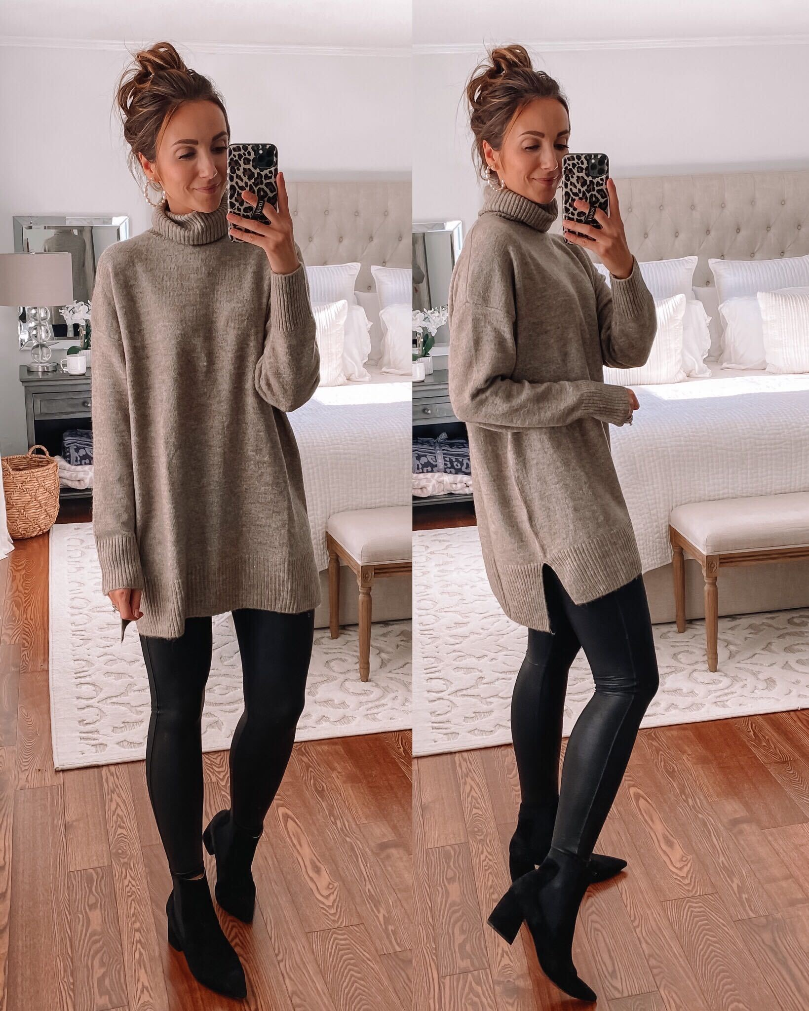 HM oversized sweater, fall outfits with leggings