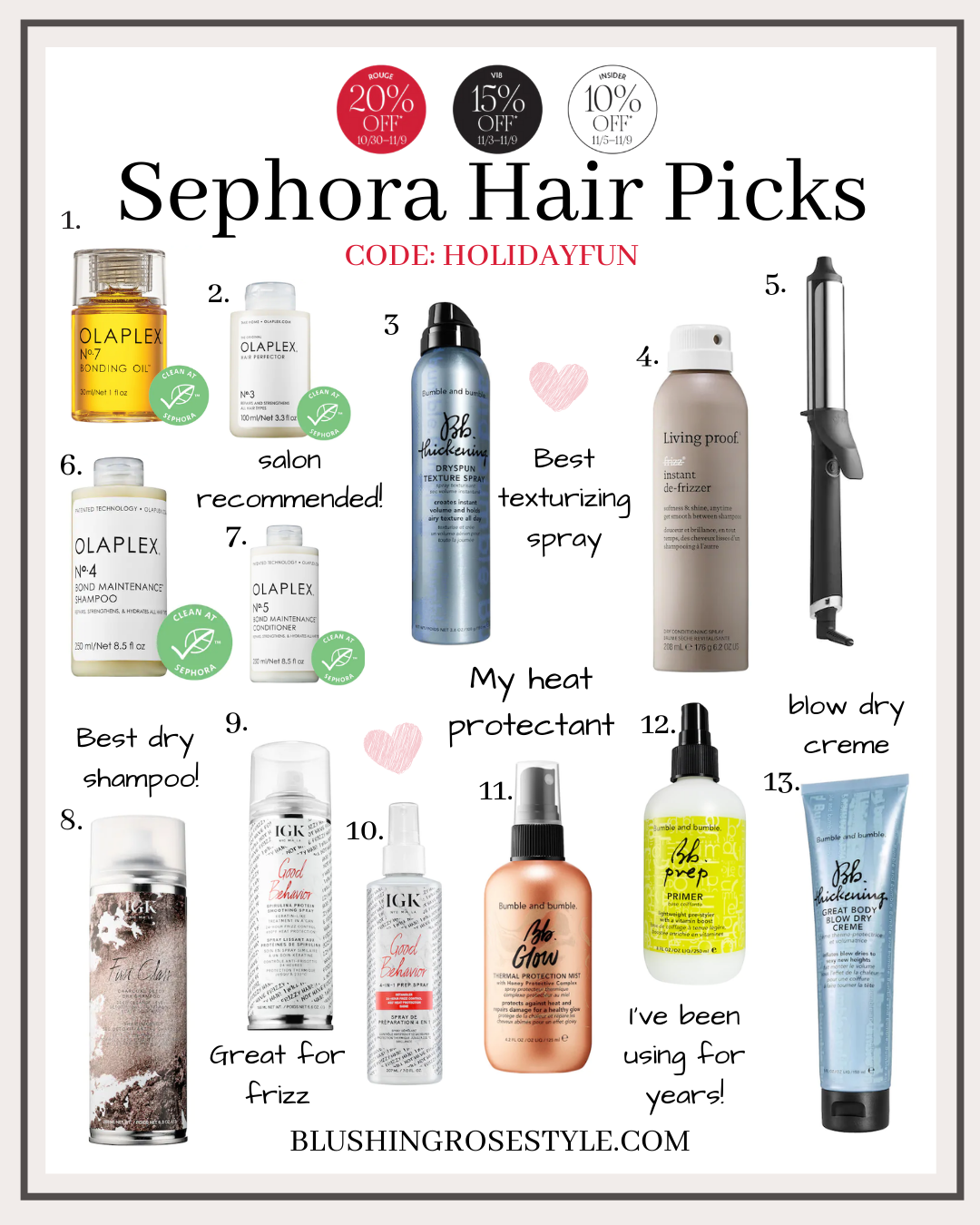 Sephora Sales Event - Hair Picks