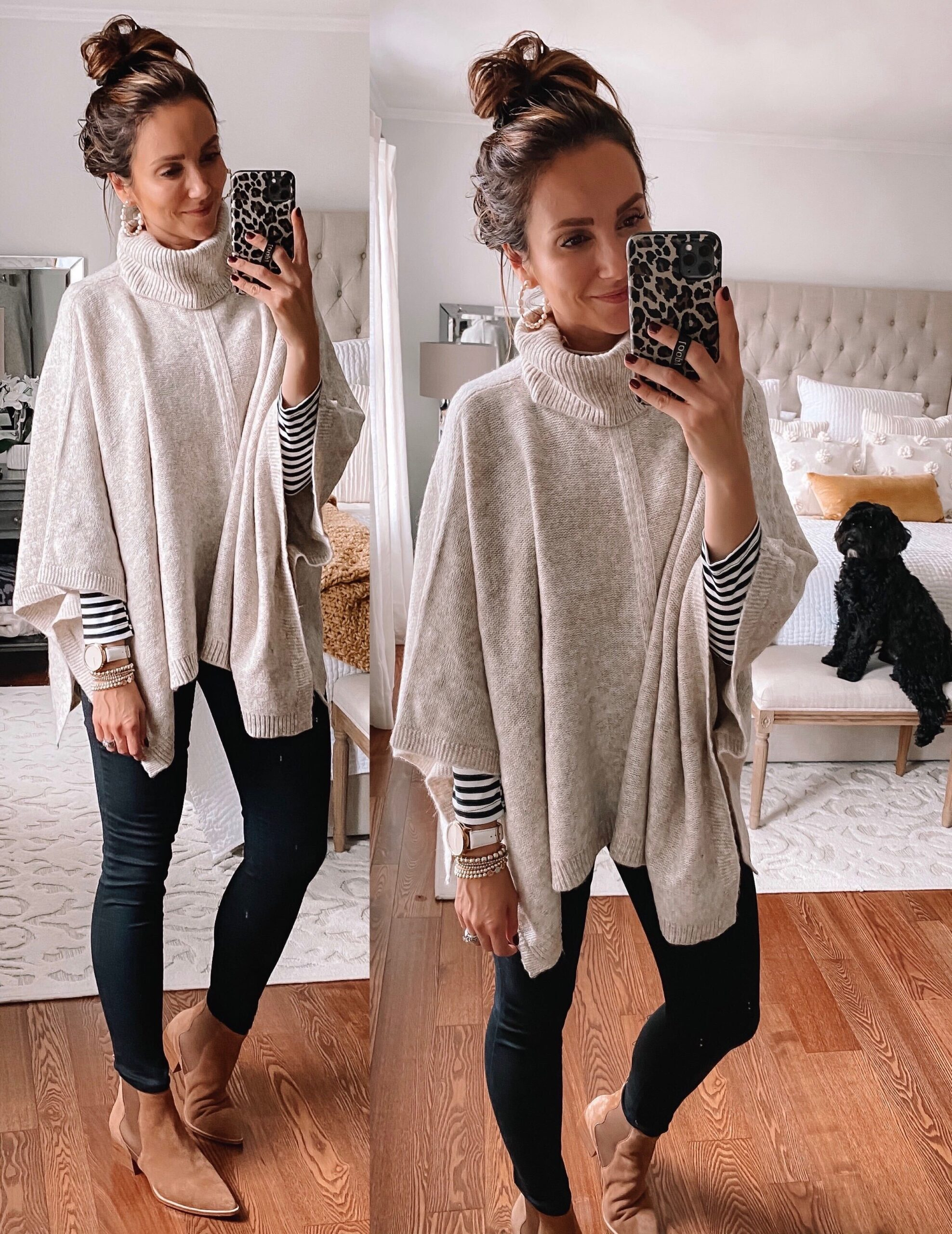 Target style, target poncho, fall outfit idea with poncho