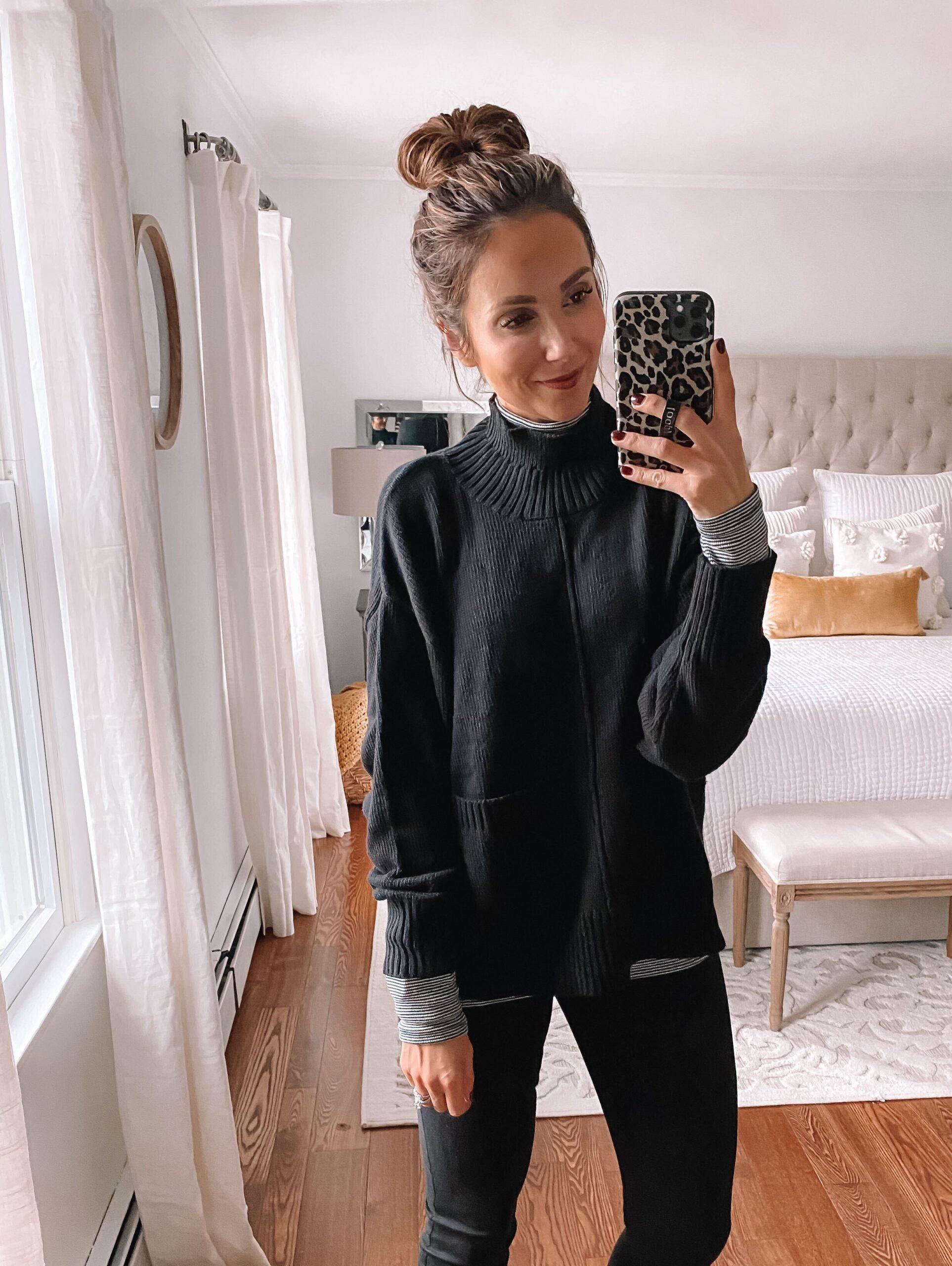 black walmart sweater, fall fashion