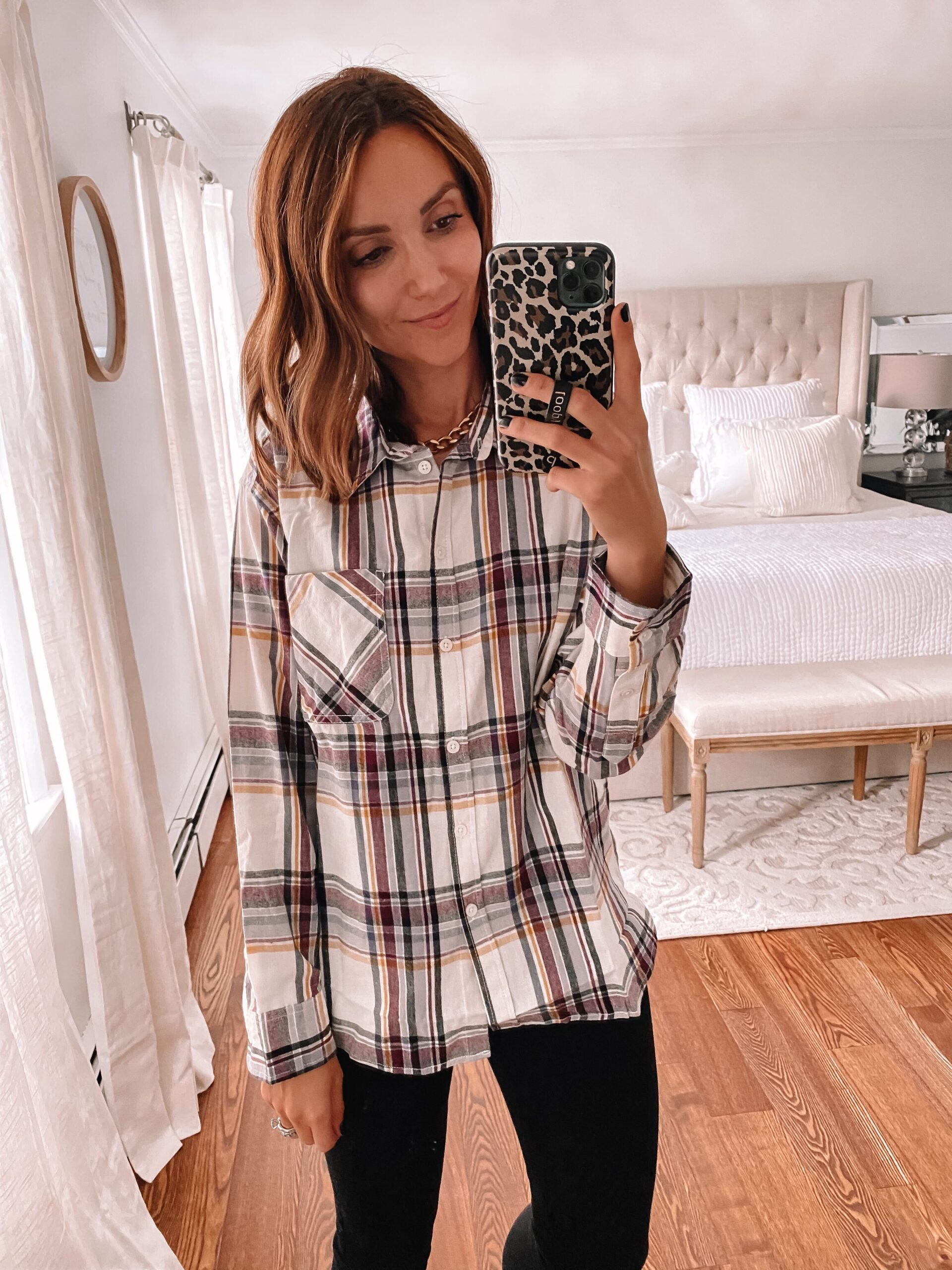 walmart flannel shirt, affordable fall outfit idea