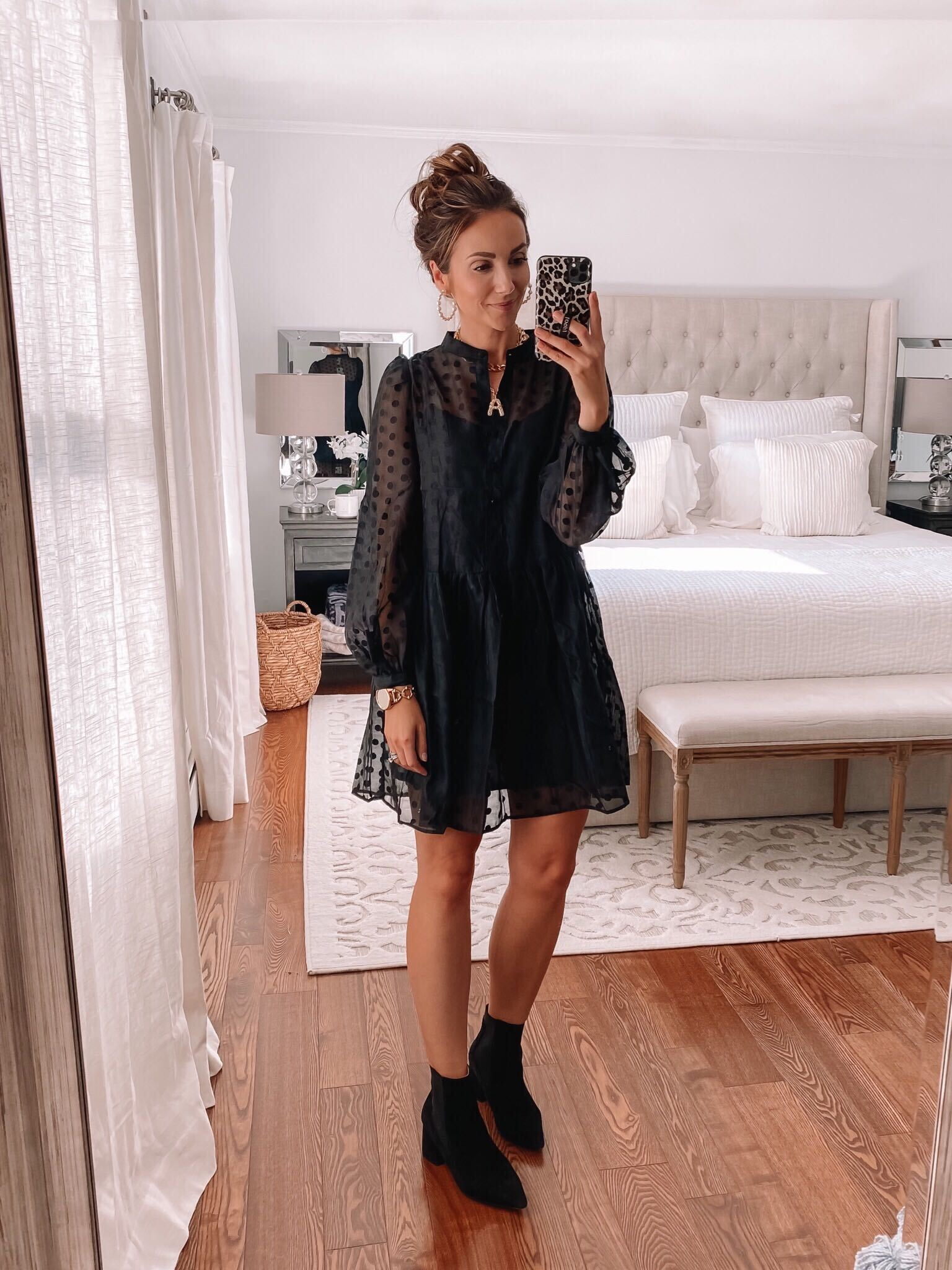 affordable puff sleeve dress