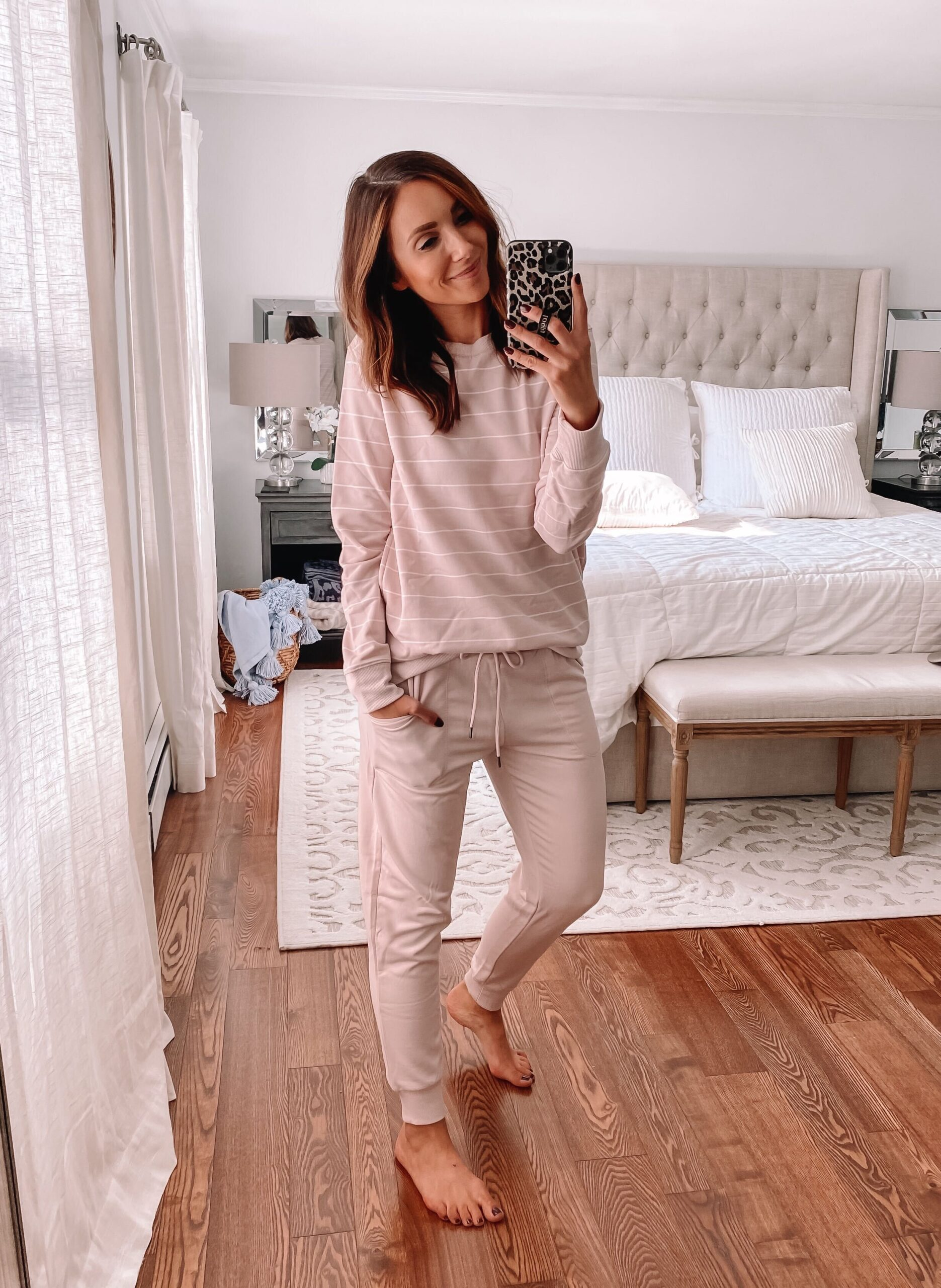 cozy target loungewear, pink joggers
