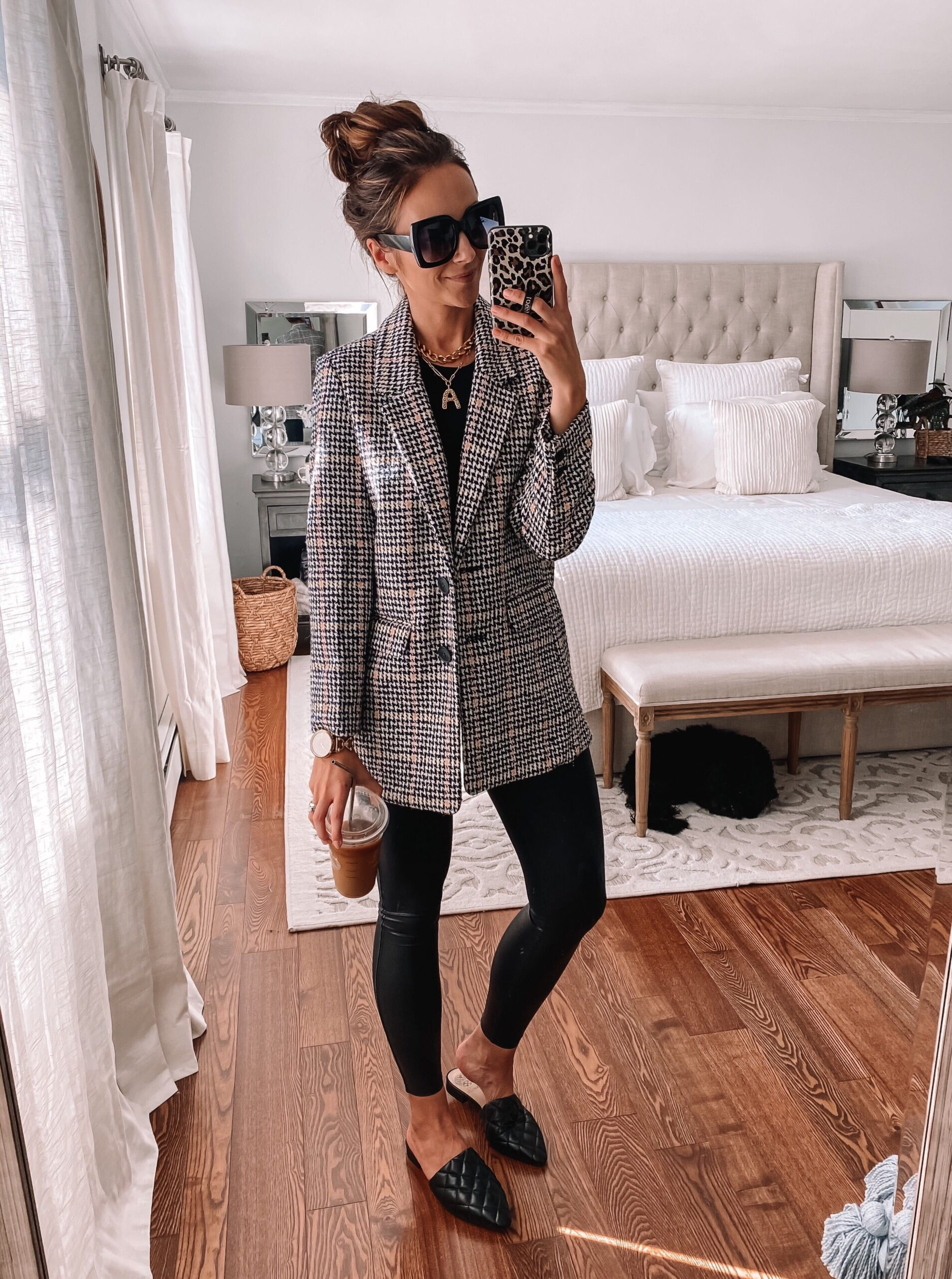 old navy blazer, fall outfits, fall fashion, outfit with leggings