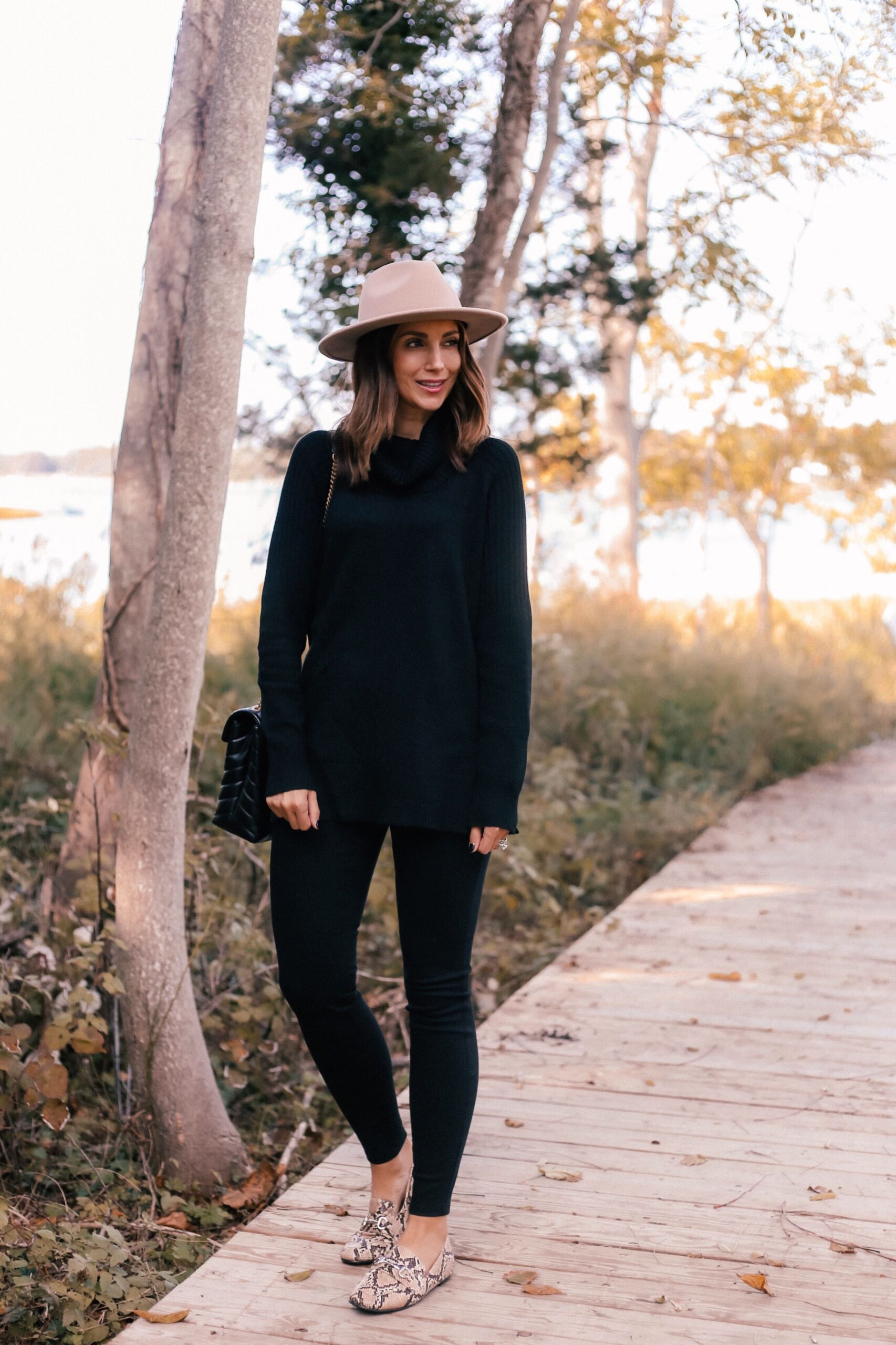 walmart fall outfit, turtleneck sweater, jeggings