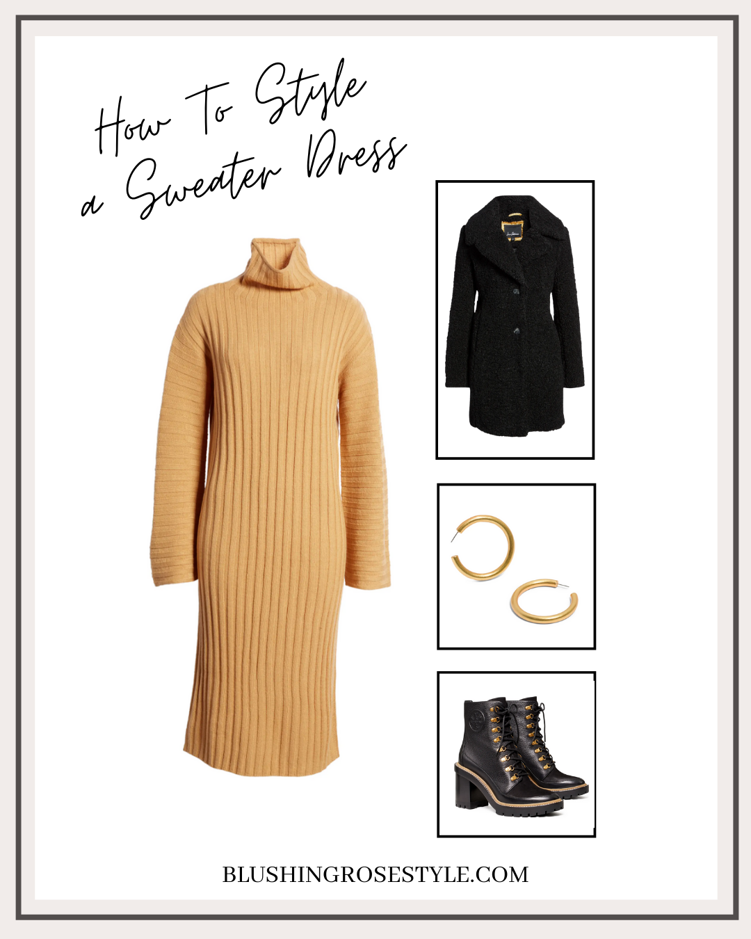 Outfit Idea with sweater dress