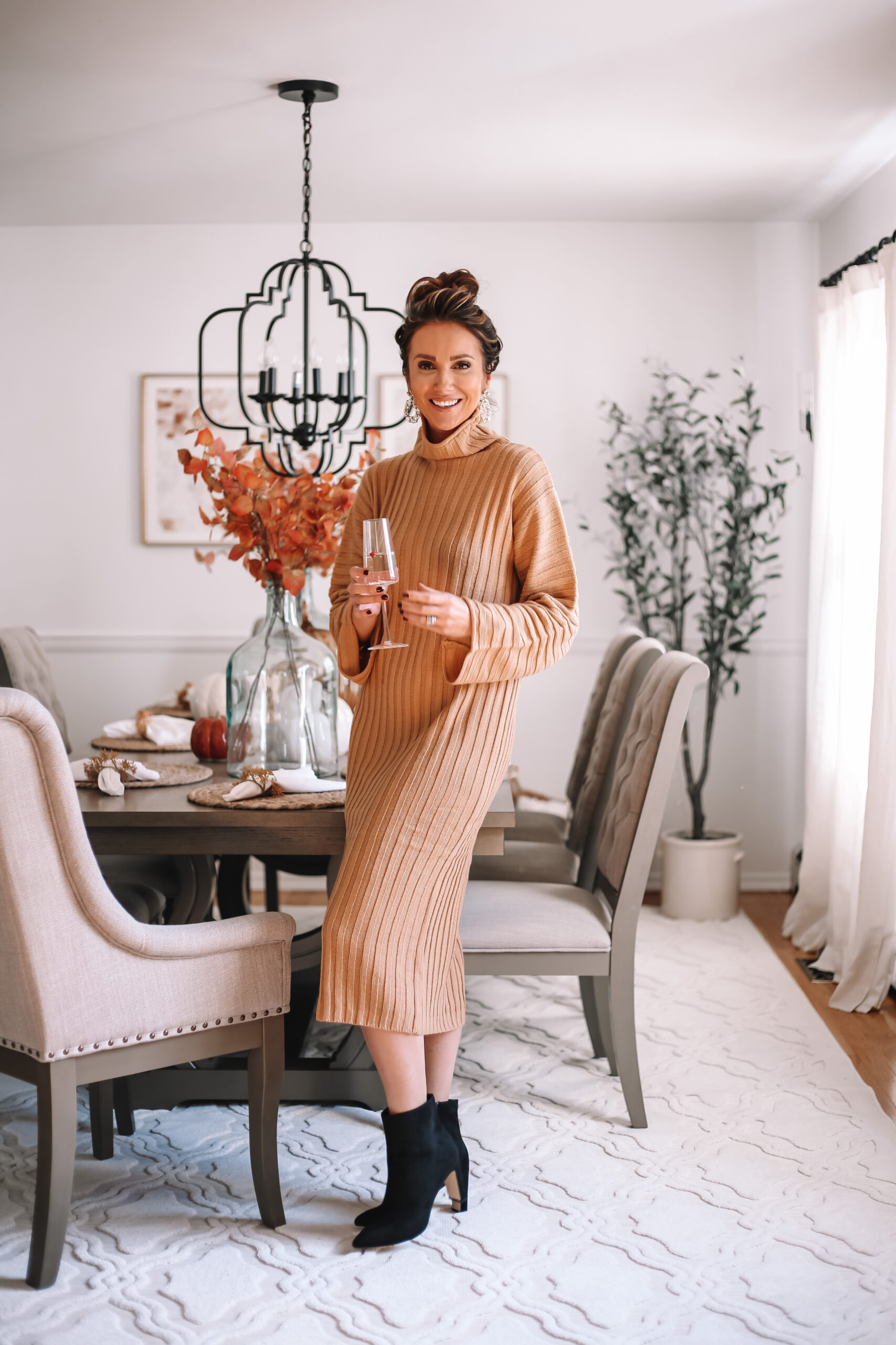 sweater dress, sweater dress with booties