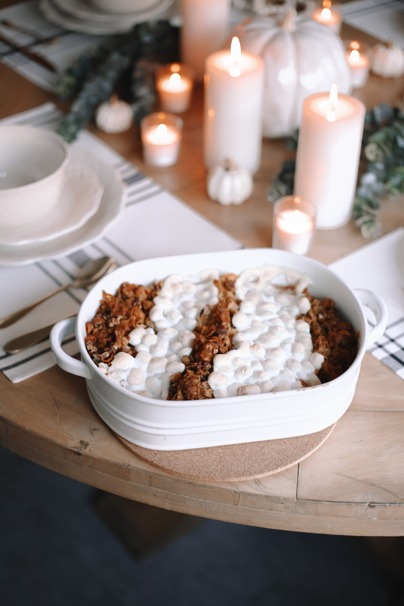 Yummy Sweet Potato Casserole and Thanksgiving Tablescape