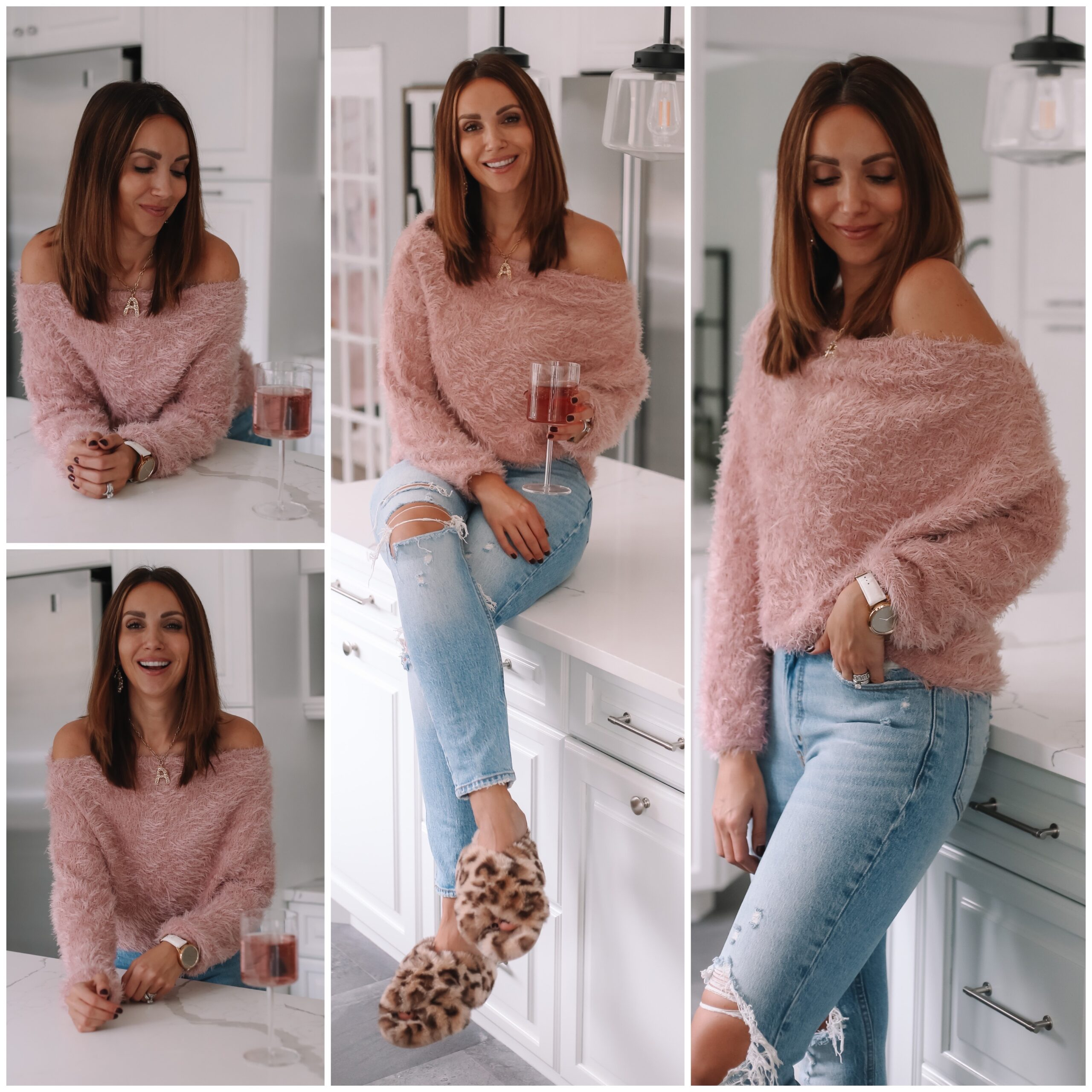 Anna sweater in blush