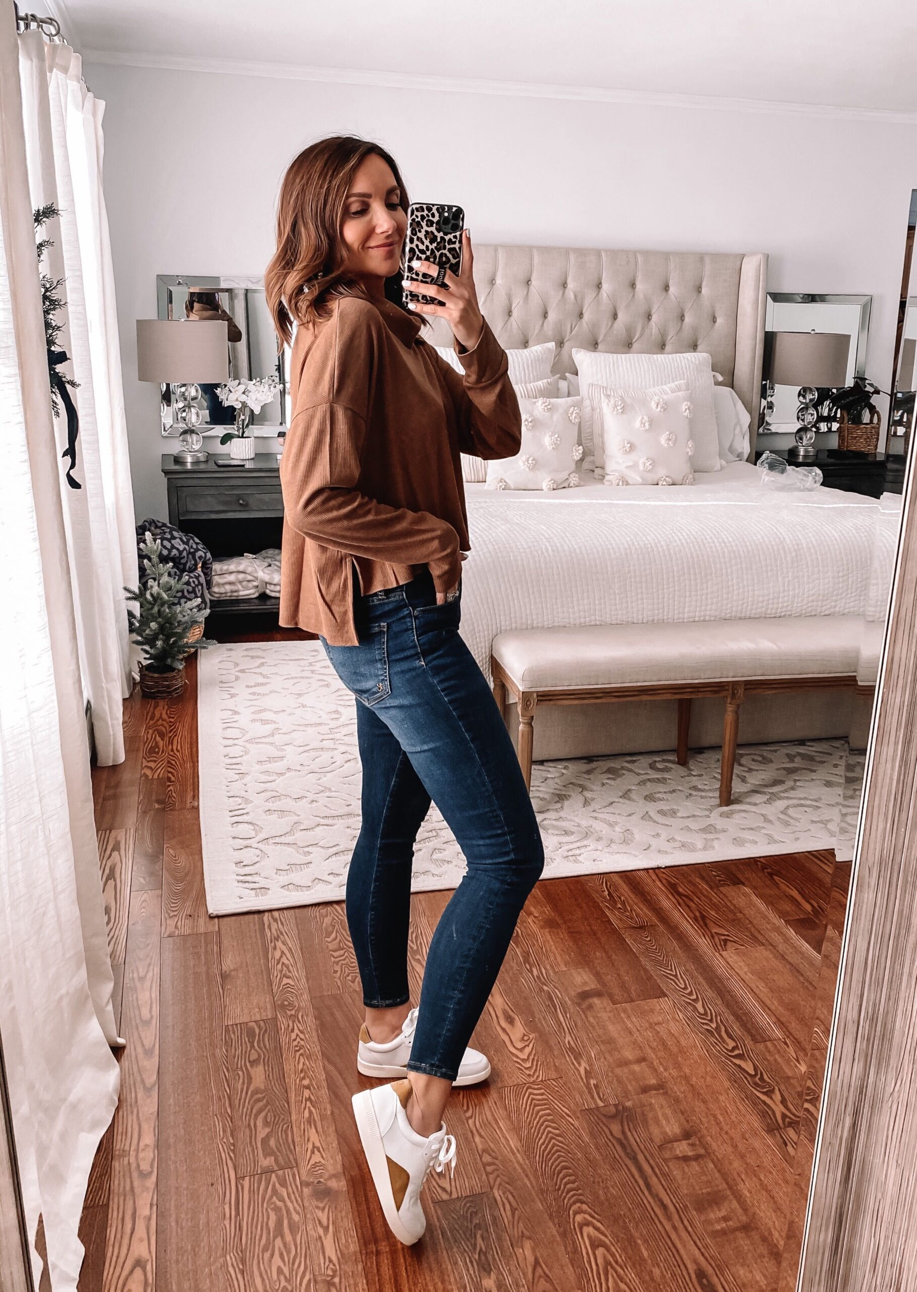 aerie cropped turtleneck