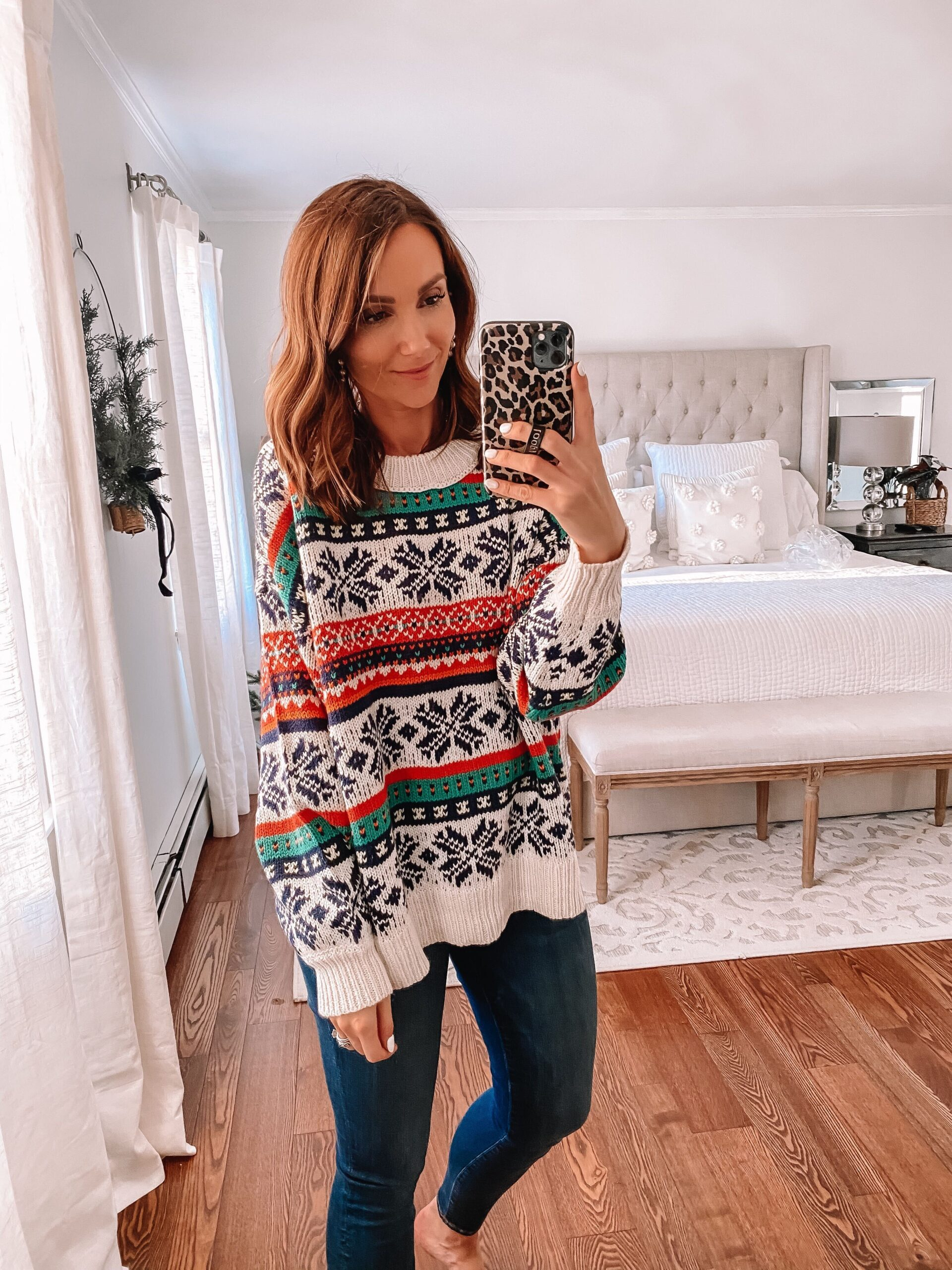 aerie fair isle sweater