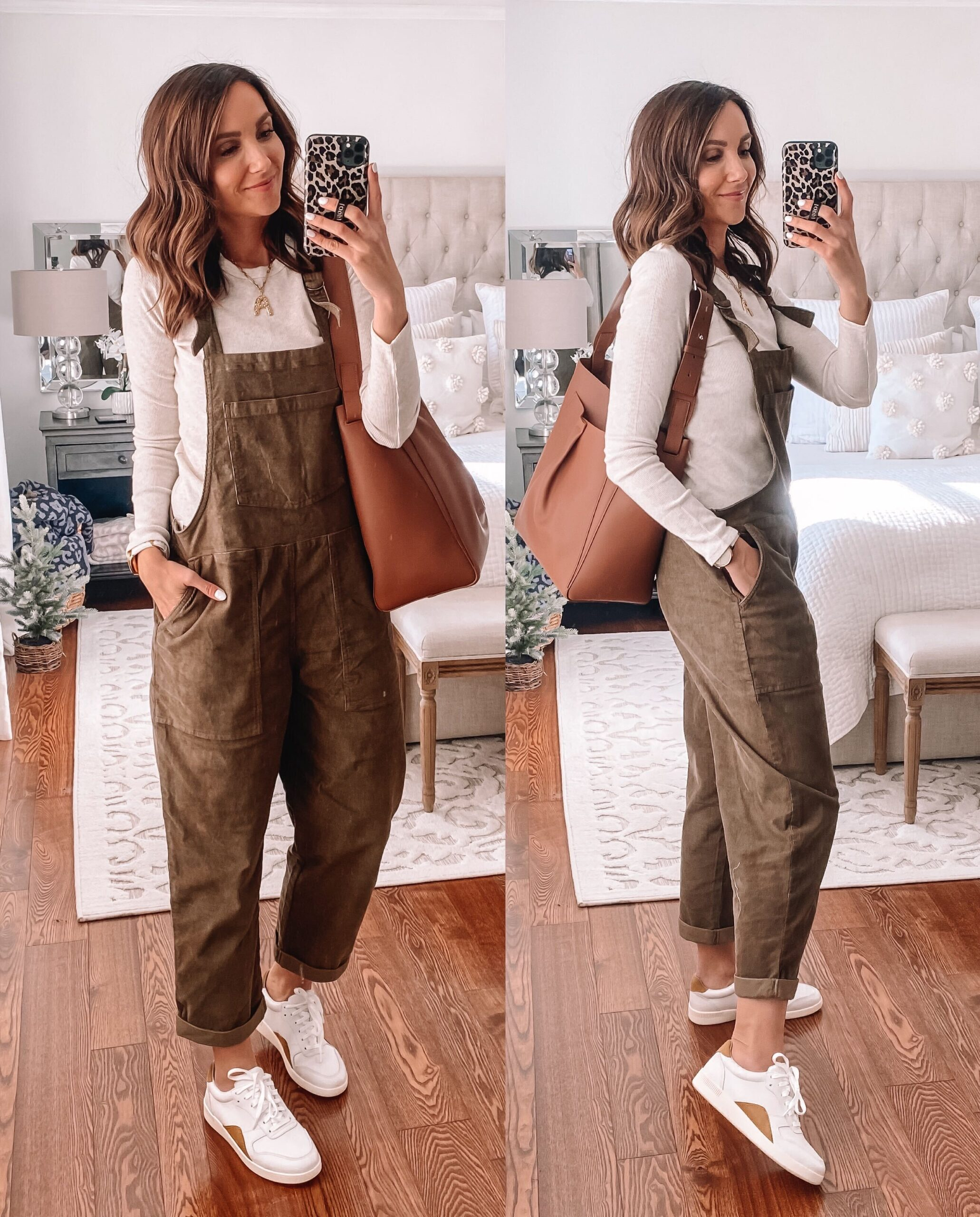 aerie overalls with sneakers