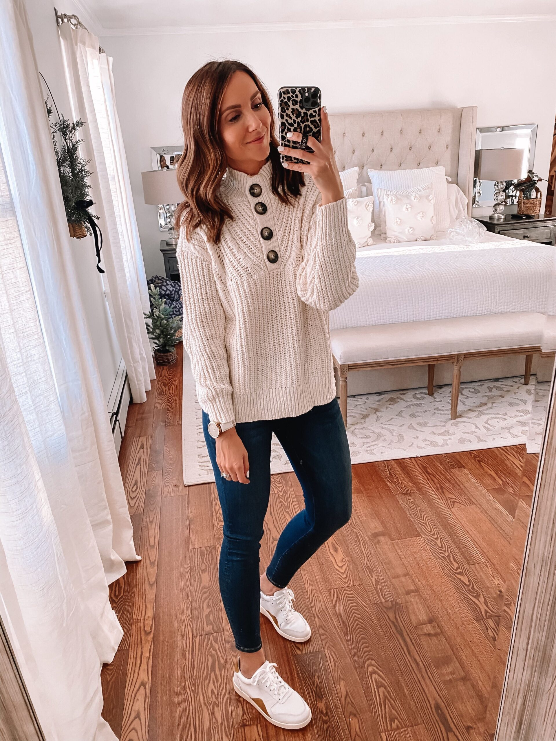aerie sweater with jeans