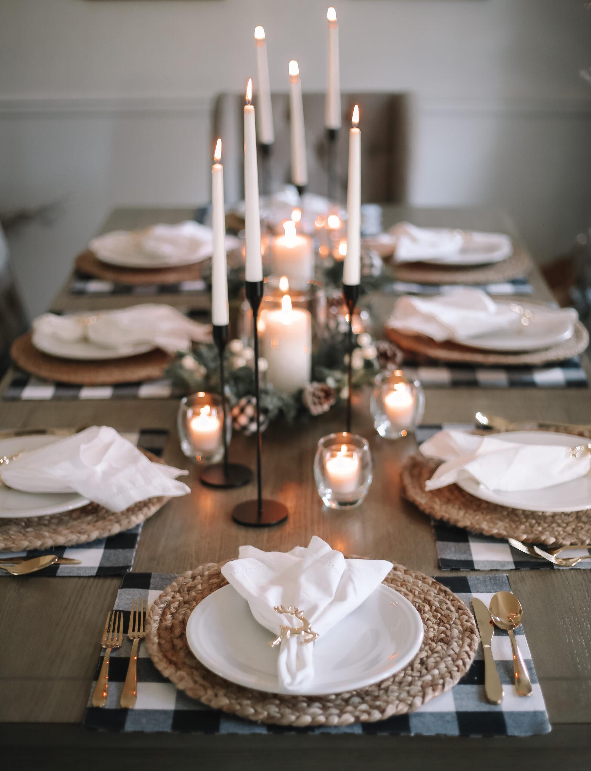 christmas decor, christmas tablescape