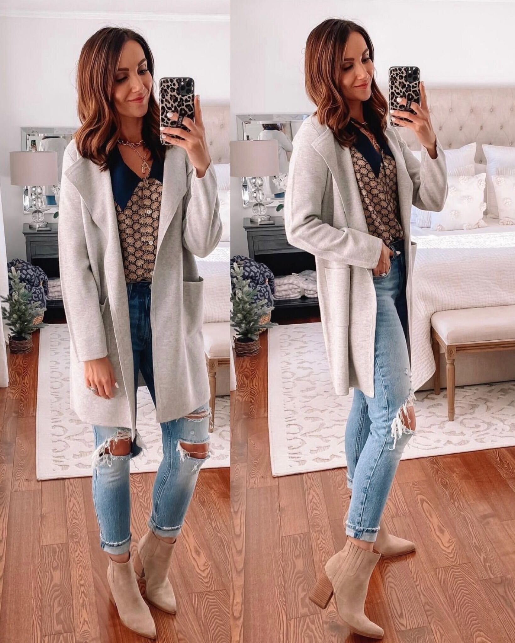 Abercrombie jeans and juliette sweater blazer