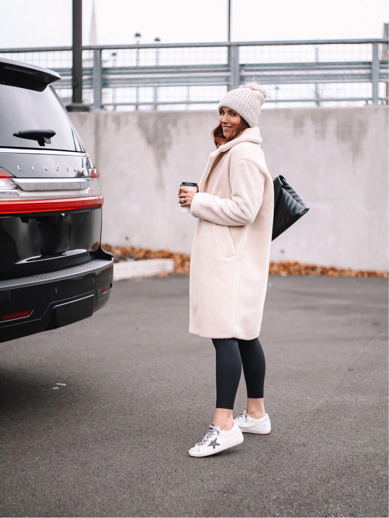 winter style, sherpa teddy coat