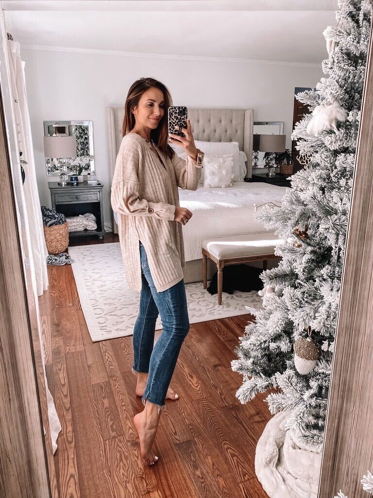 free people top, ab solution jeans, casual outfit
