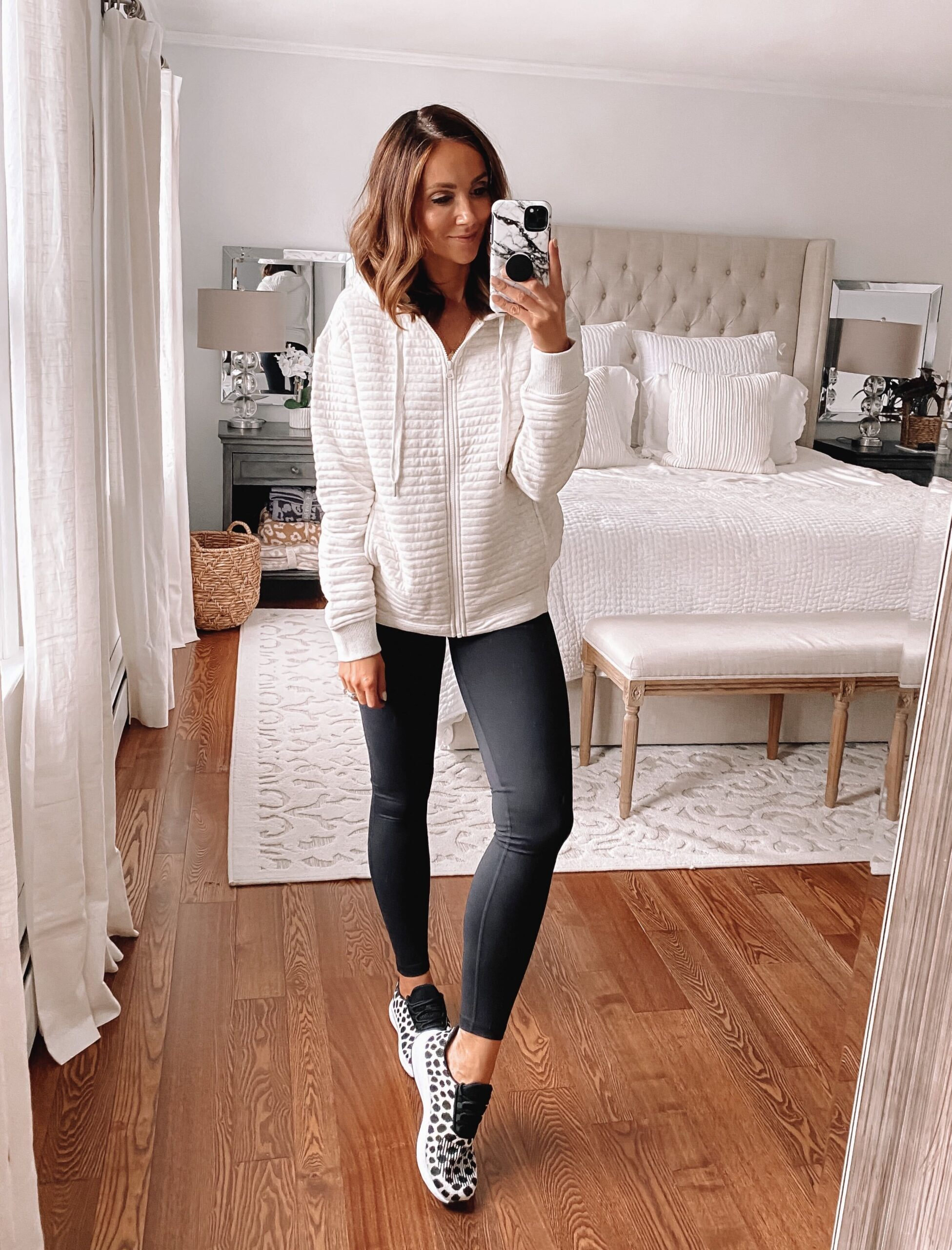 Zella leggings, casual outfit idea