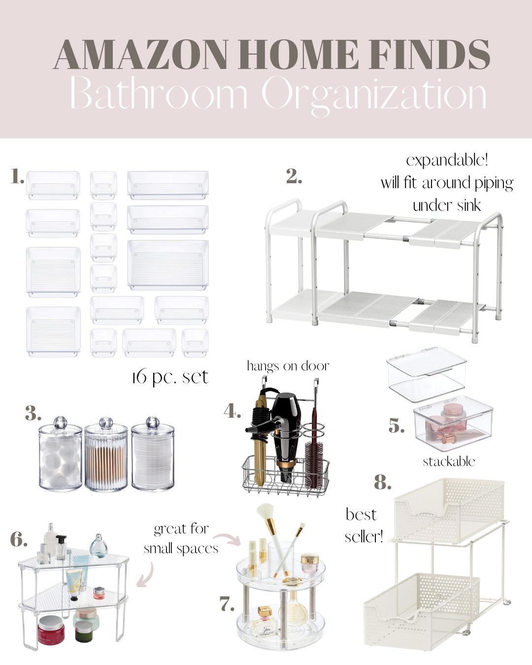 amazon bathroom organization