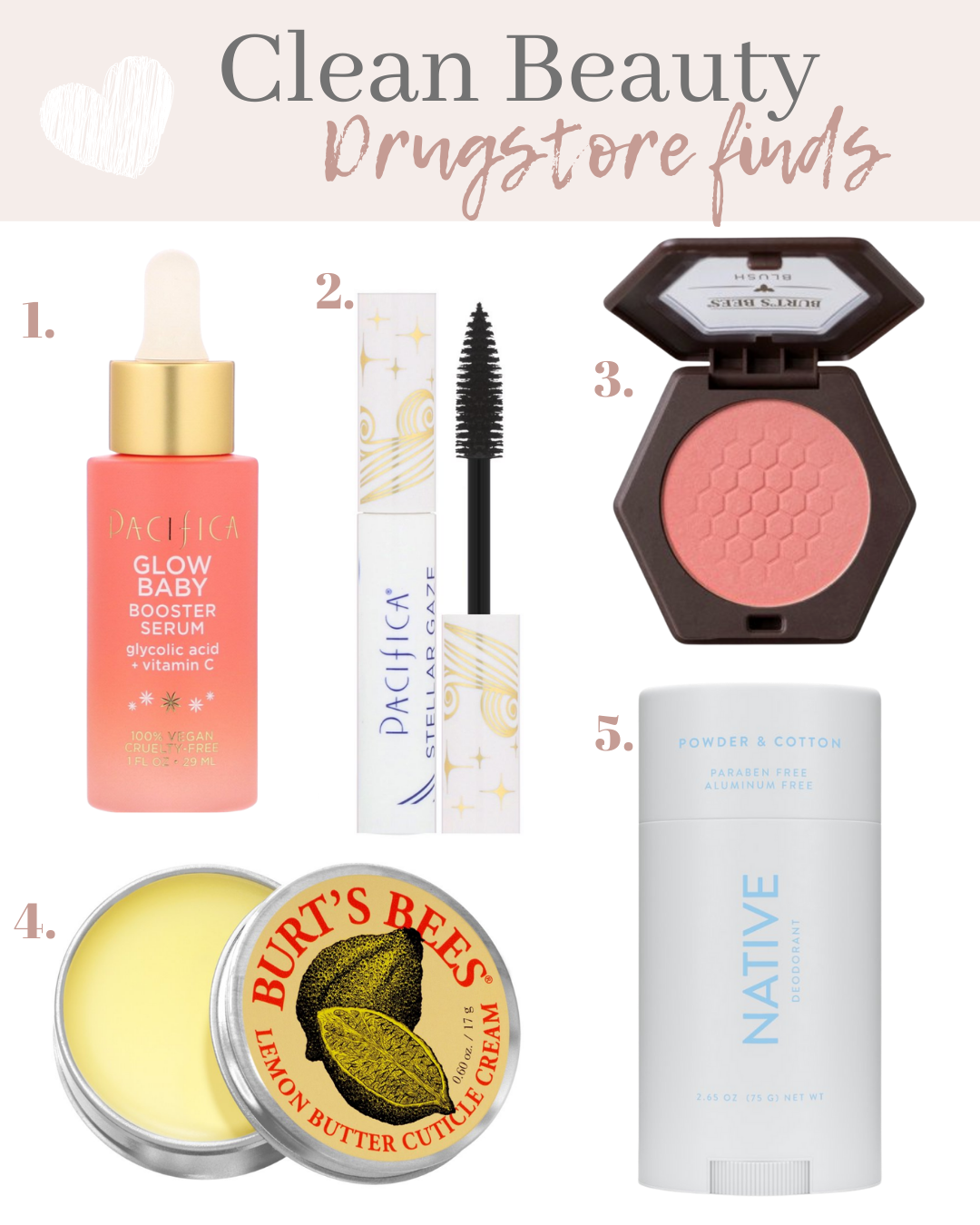 clean beauty drugstore finds