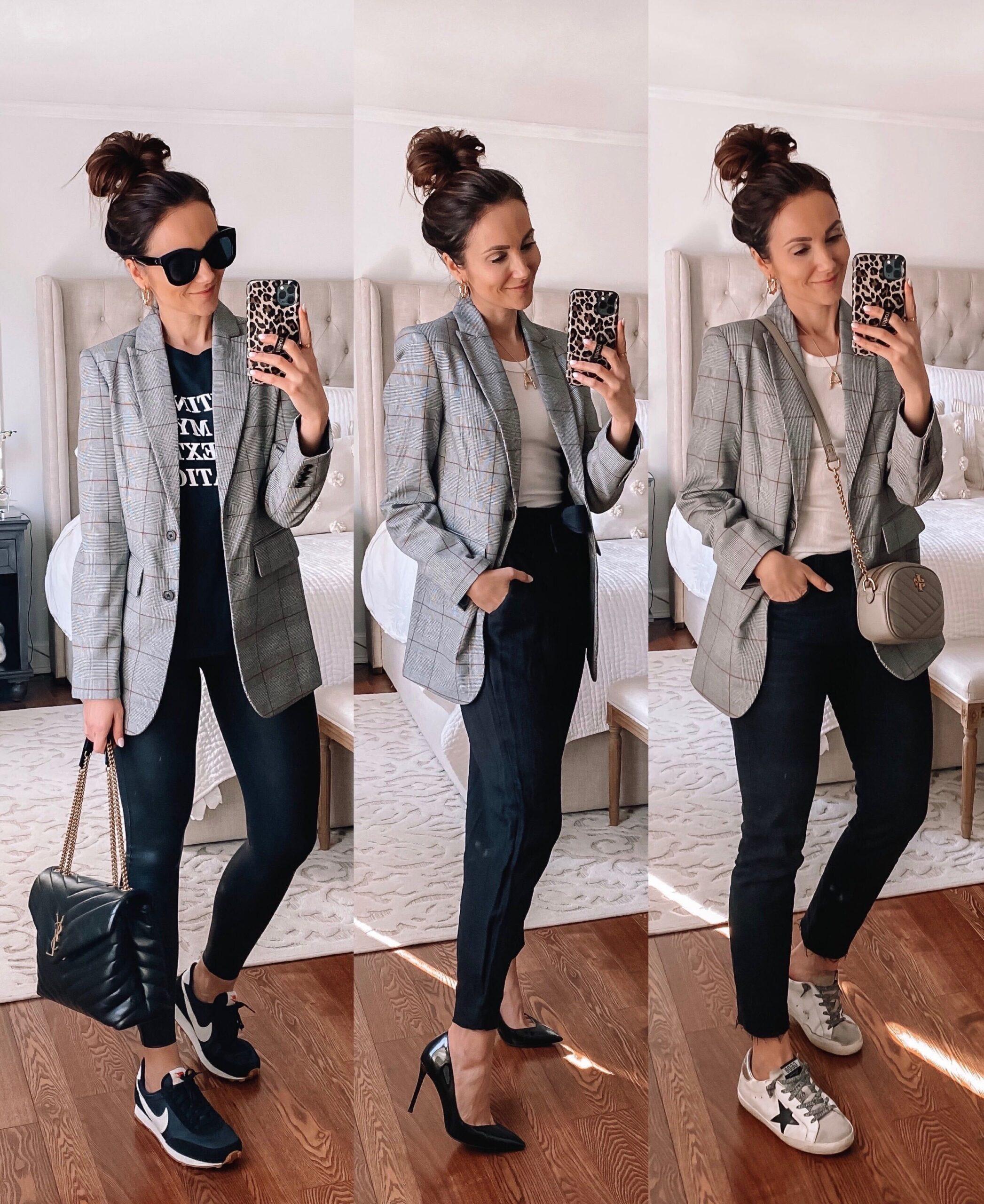 target style, target blazer styled 3 ways