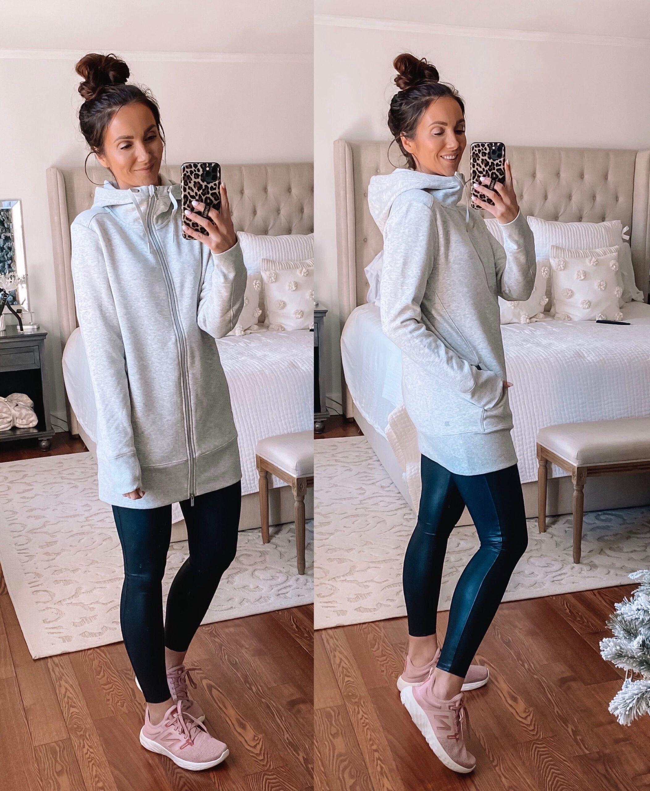 target tunic sweatshirt with leggings