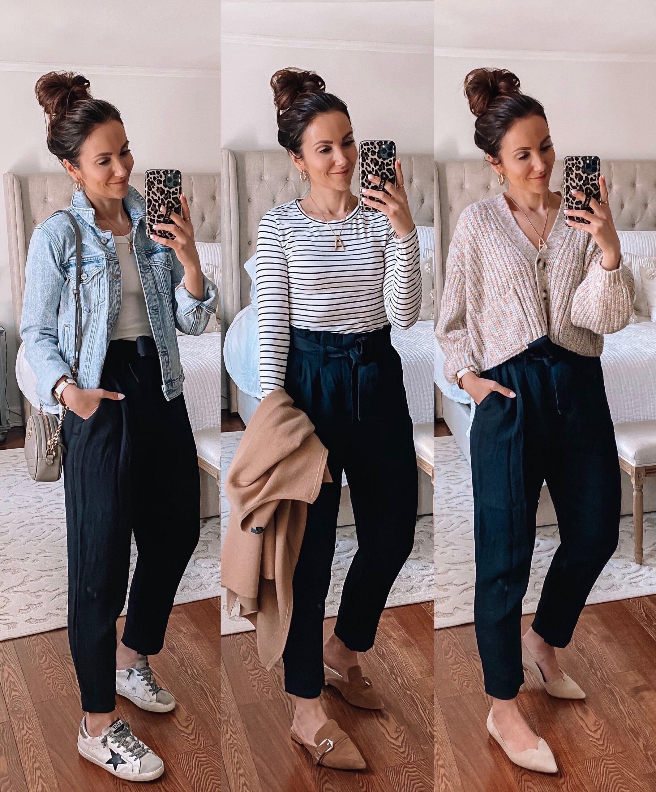 target style, target paperbag pants 3 ways