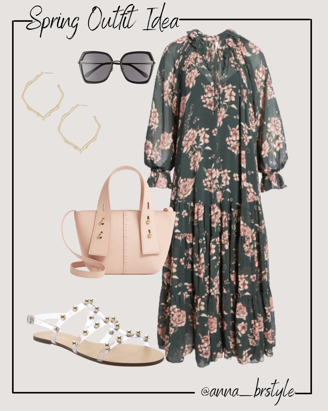 floral dress outfit idea