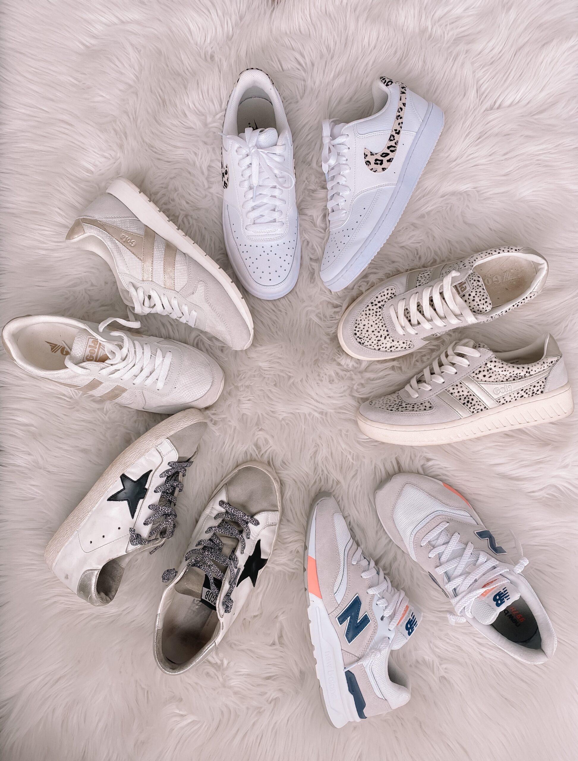 causal sneakers, spring sneakers, nike, golden goose, new balance, gola